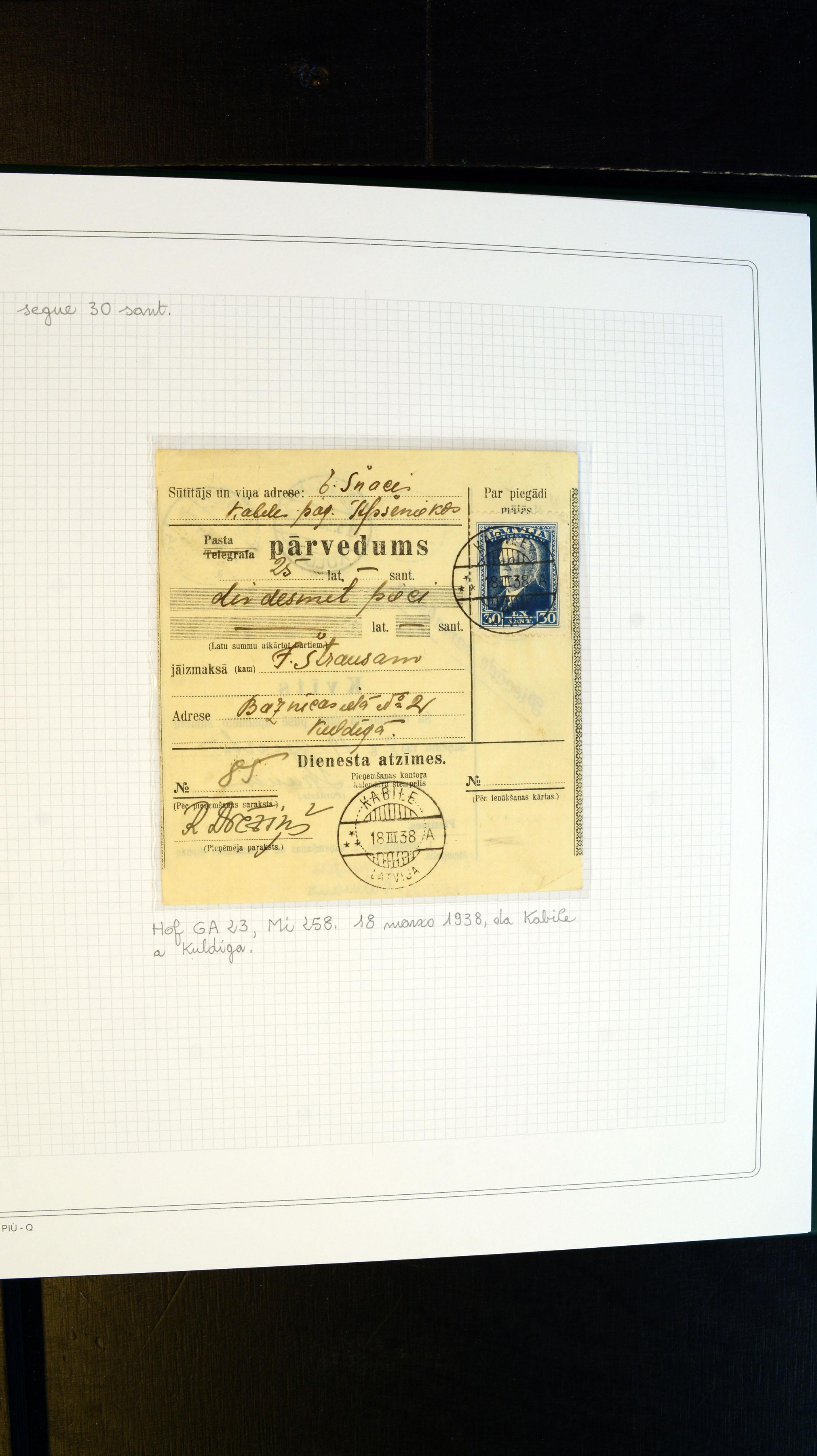 Stamp Auction Europe Latvia Auction 366 Lot 6493