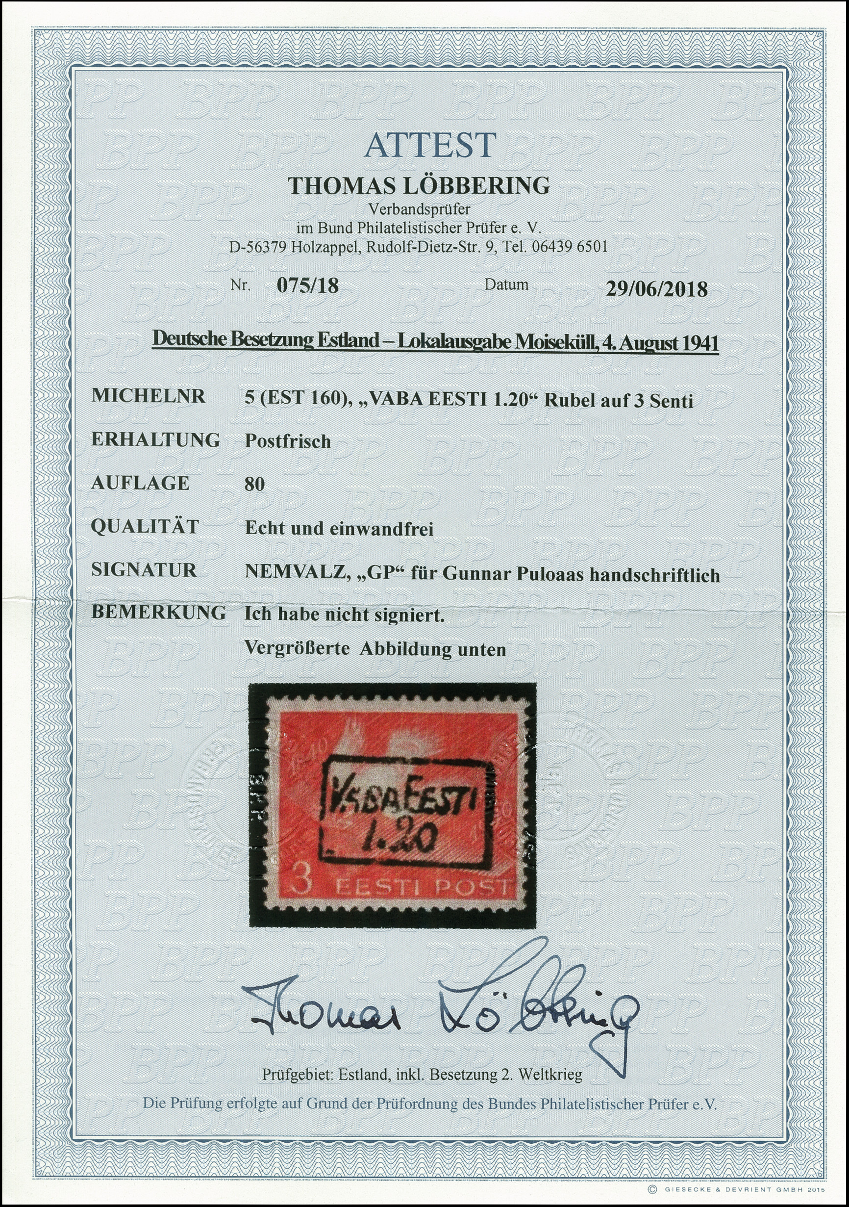 Lot 2677 - estonia Estonia - Moisakula - Heinrich Koehler Auktionen Auction  #367- Day