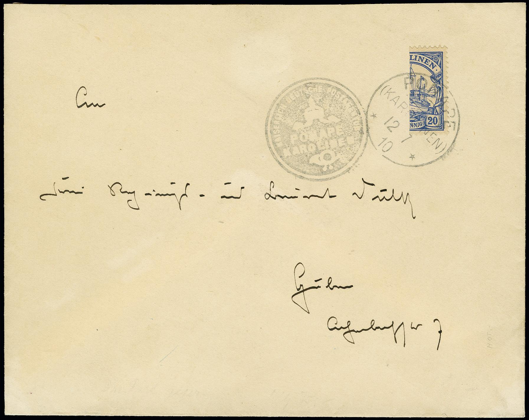 Lot 1456 - german colonies and offices abroad caroline islands -  Heinrich Koehler Auktionen Auction #367- Day 3