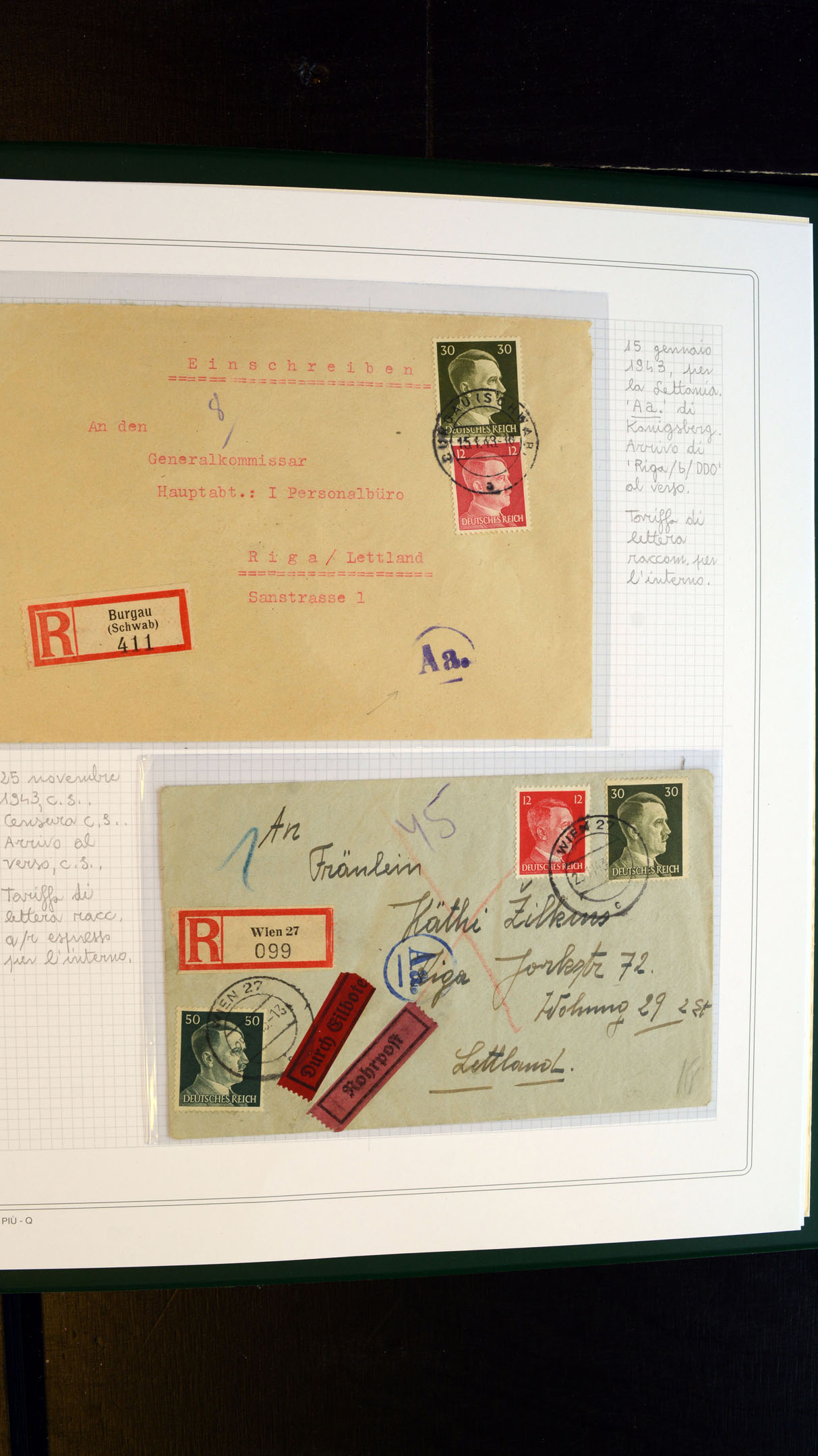 Stamp Auction - german occupation issues 1939/45 ostland