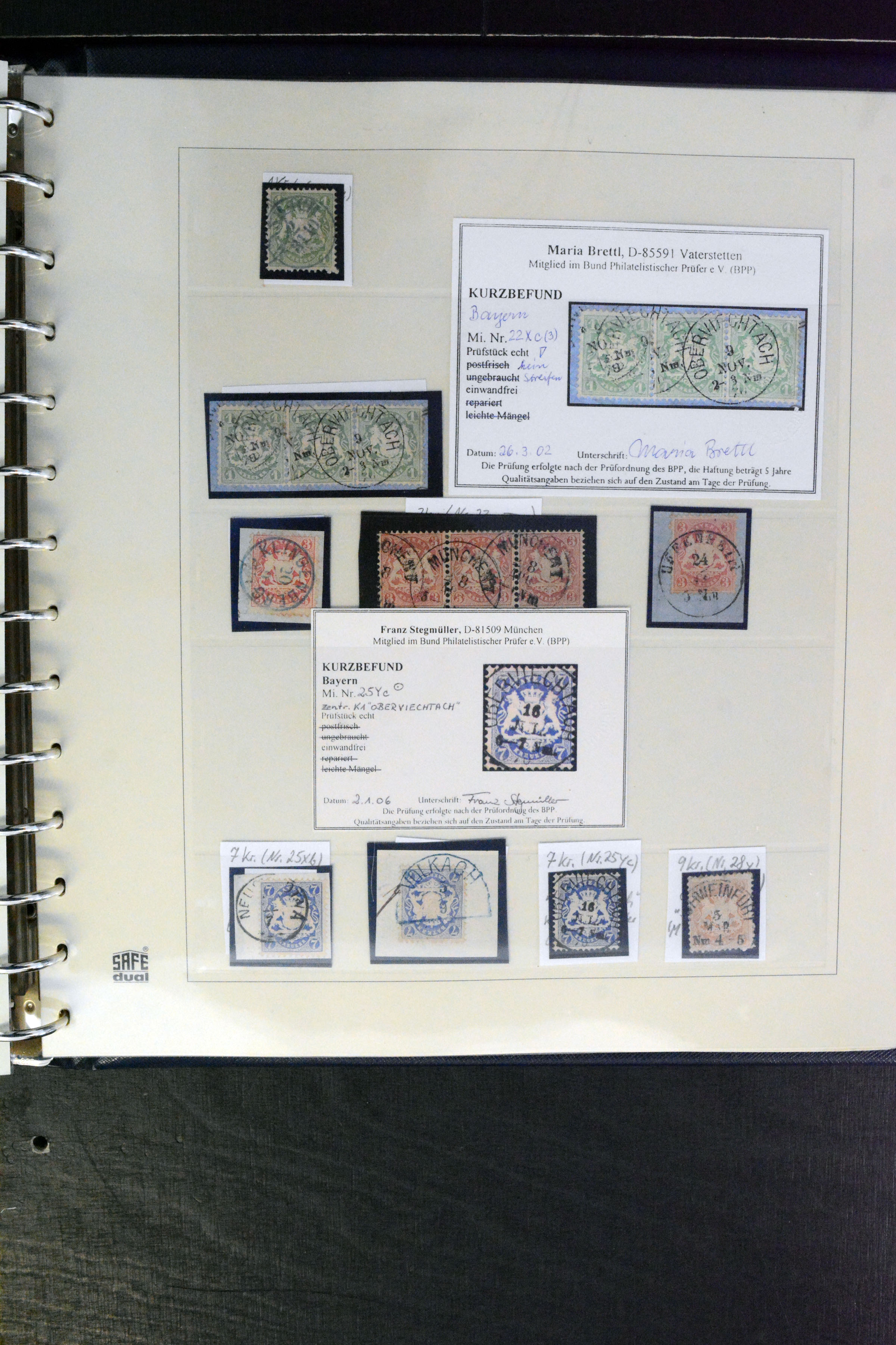 Stamp Auction German States Bavaria Auction 367 Day 2 Lot 4724
