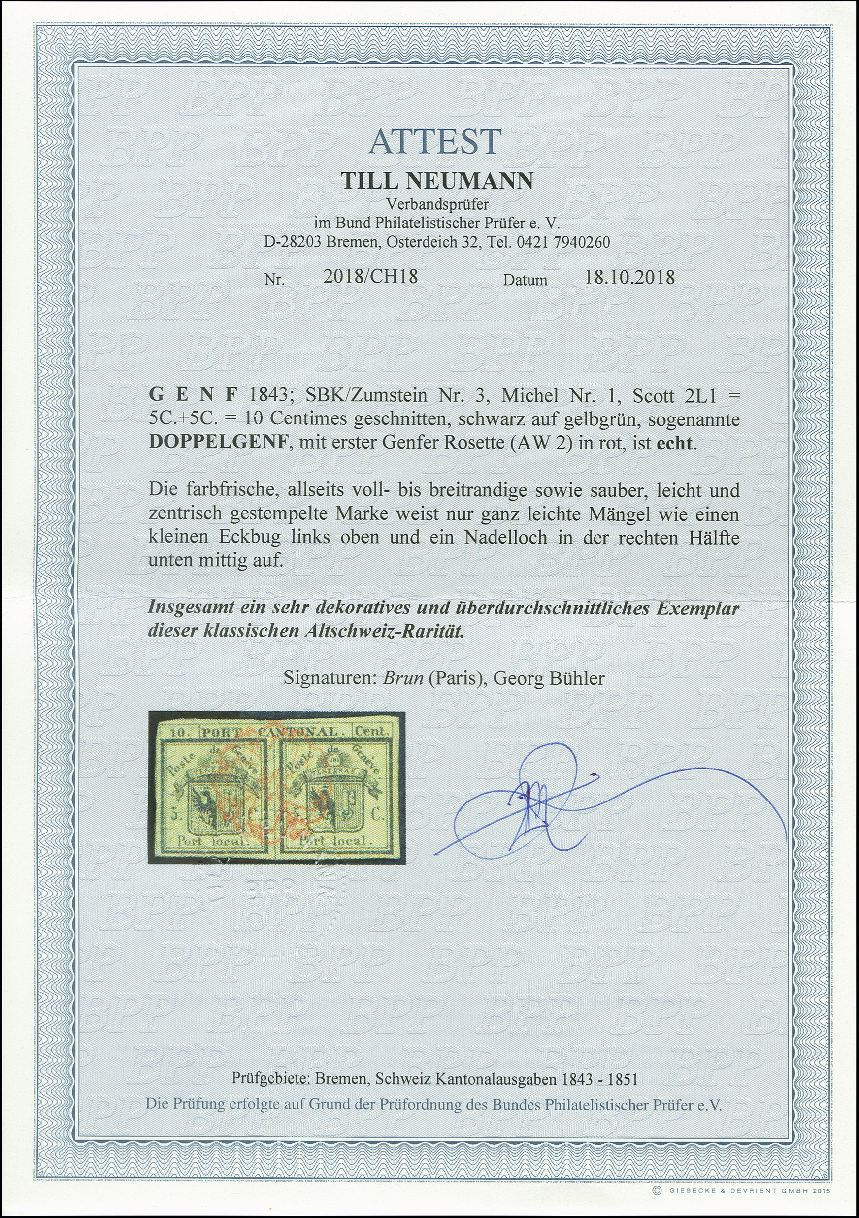 Lot 54 - Switzerland geneva -  Heinrich Koehler Auktionen Auction #368- Day 1
