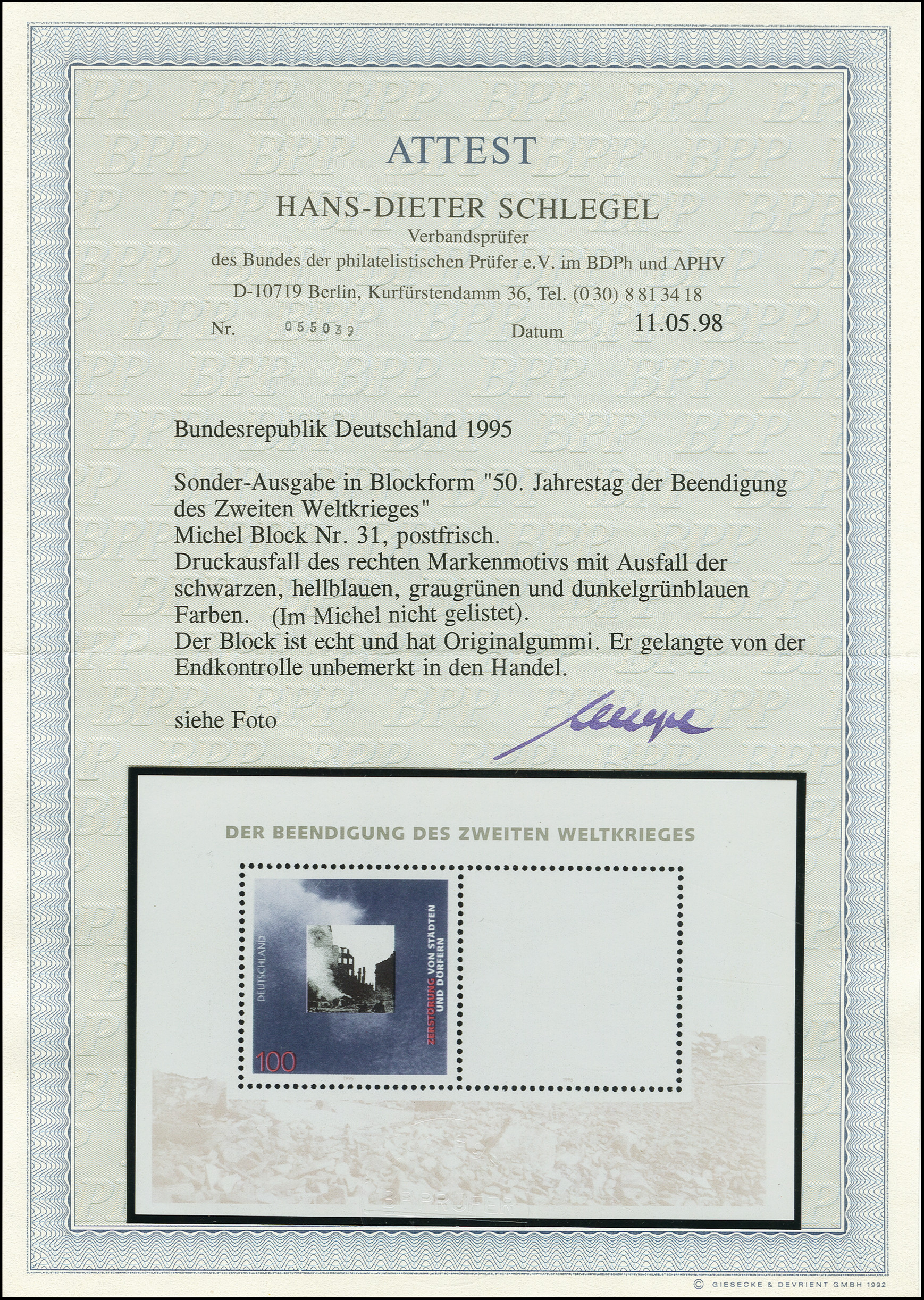 Lot 2968 - germany after 1945 federal republic of germany -  Heinrich Koehler Auktionen Auction #368- Day 4