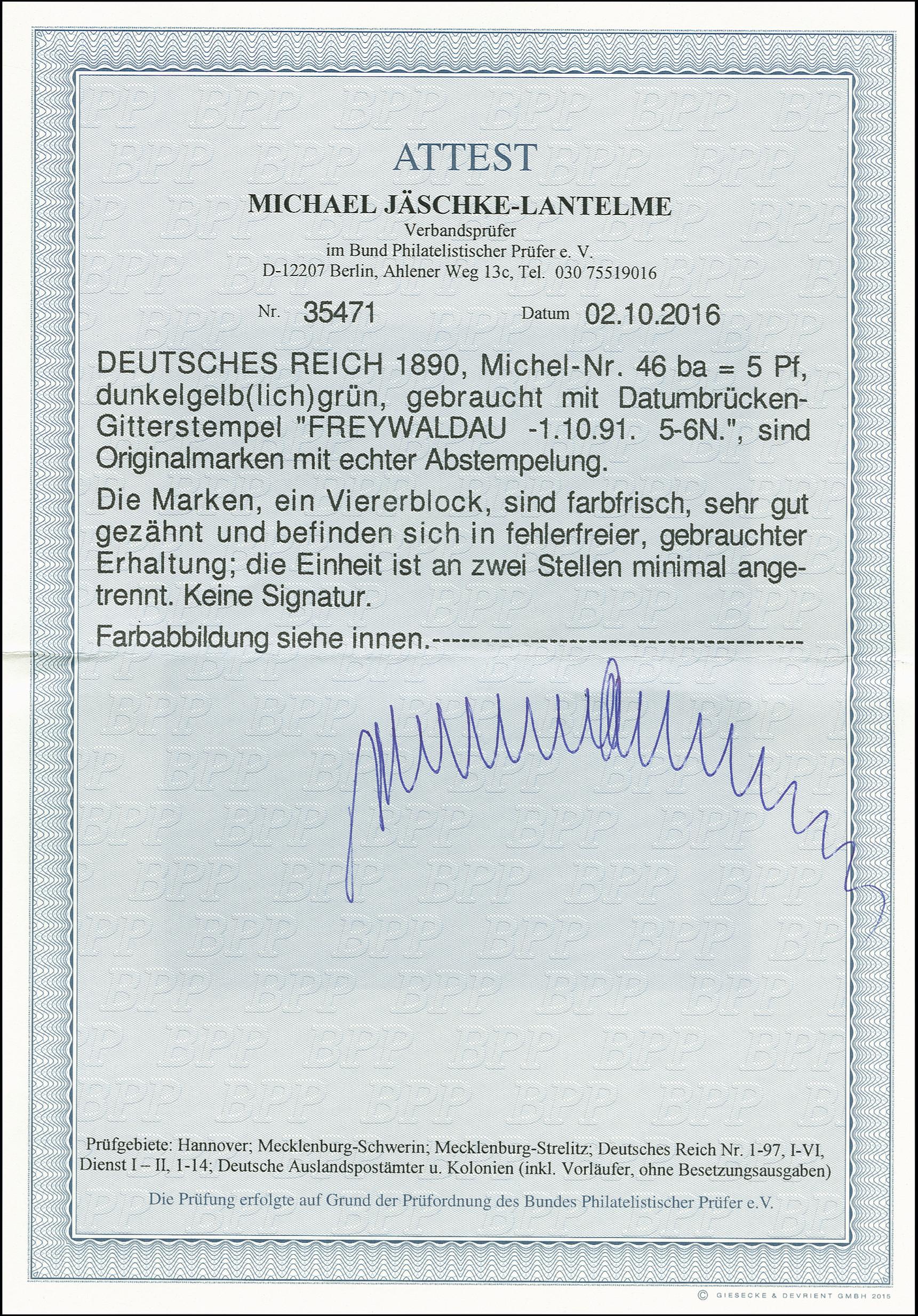 Lot 3006 - Main catalogue German Empire -  Heinrich Koehler Auktionen Auction #368- Day 5