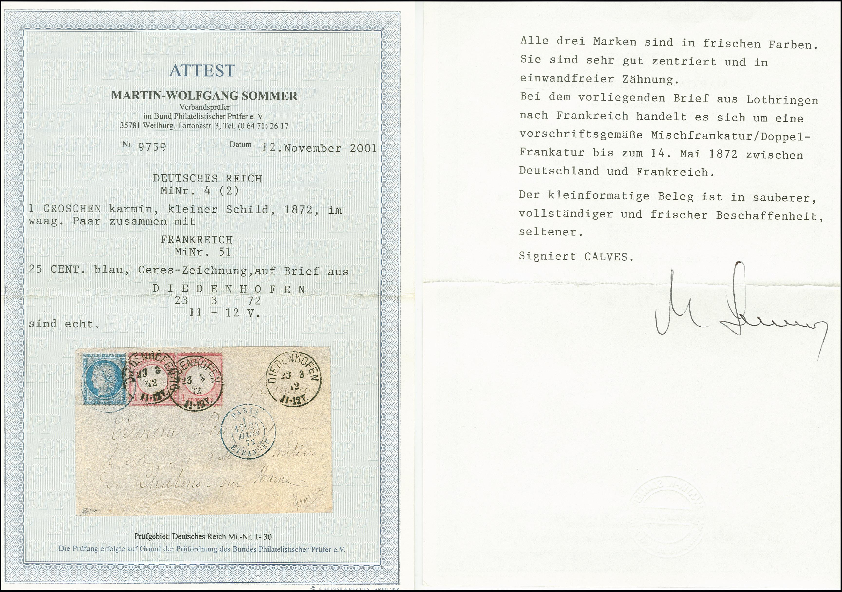 Lot 2987 - Main catalogue German Empire -  Heinrich Koehler Auktionen Auction #368- Day 5