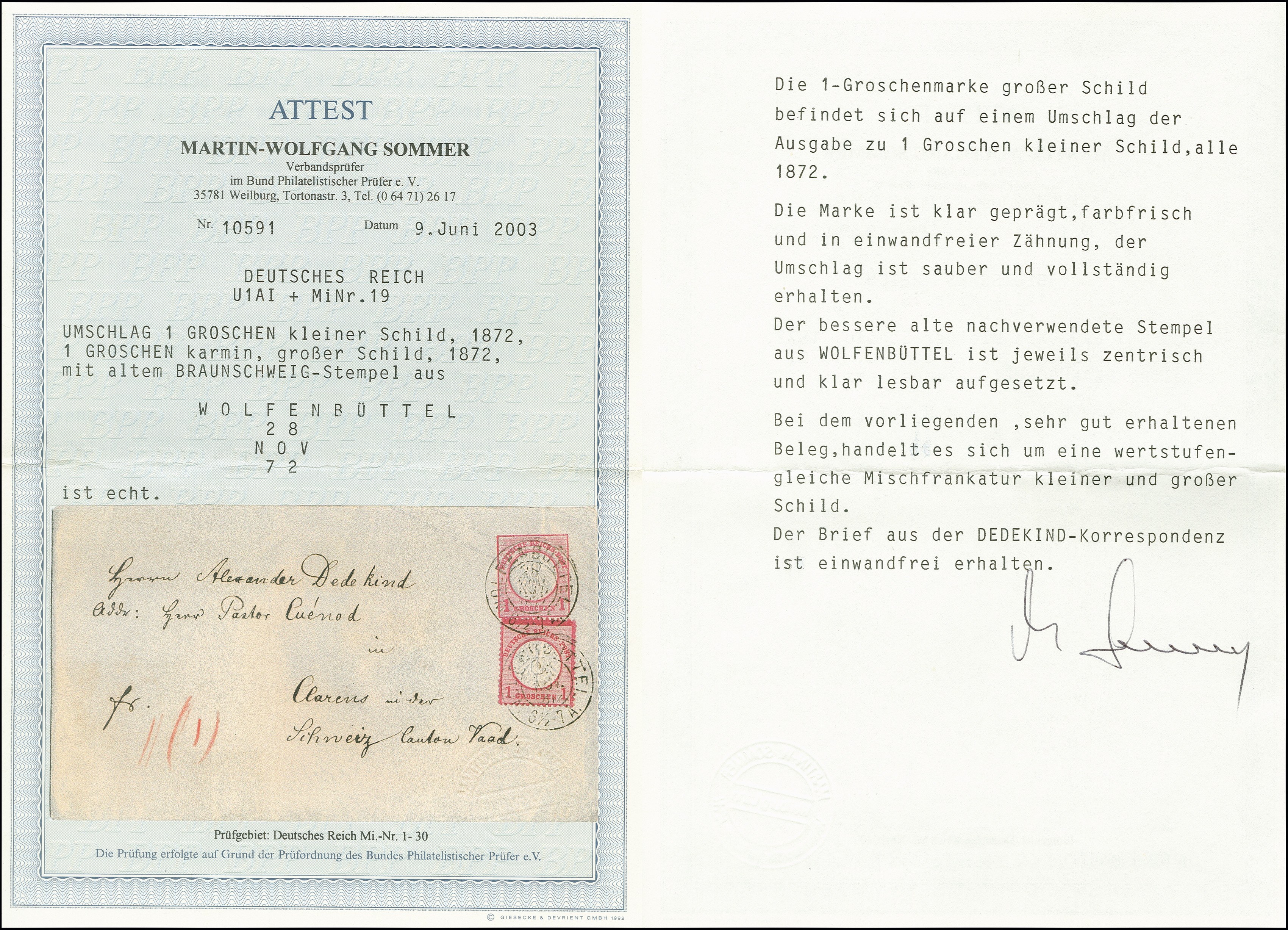 Lot 2993 - Main catalogue German Empire -  Heinrich Koehler Auktionen Auction #368- Day 5