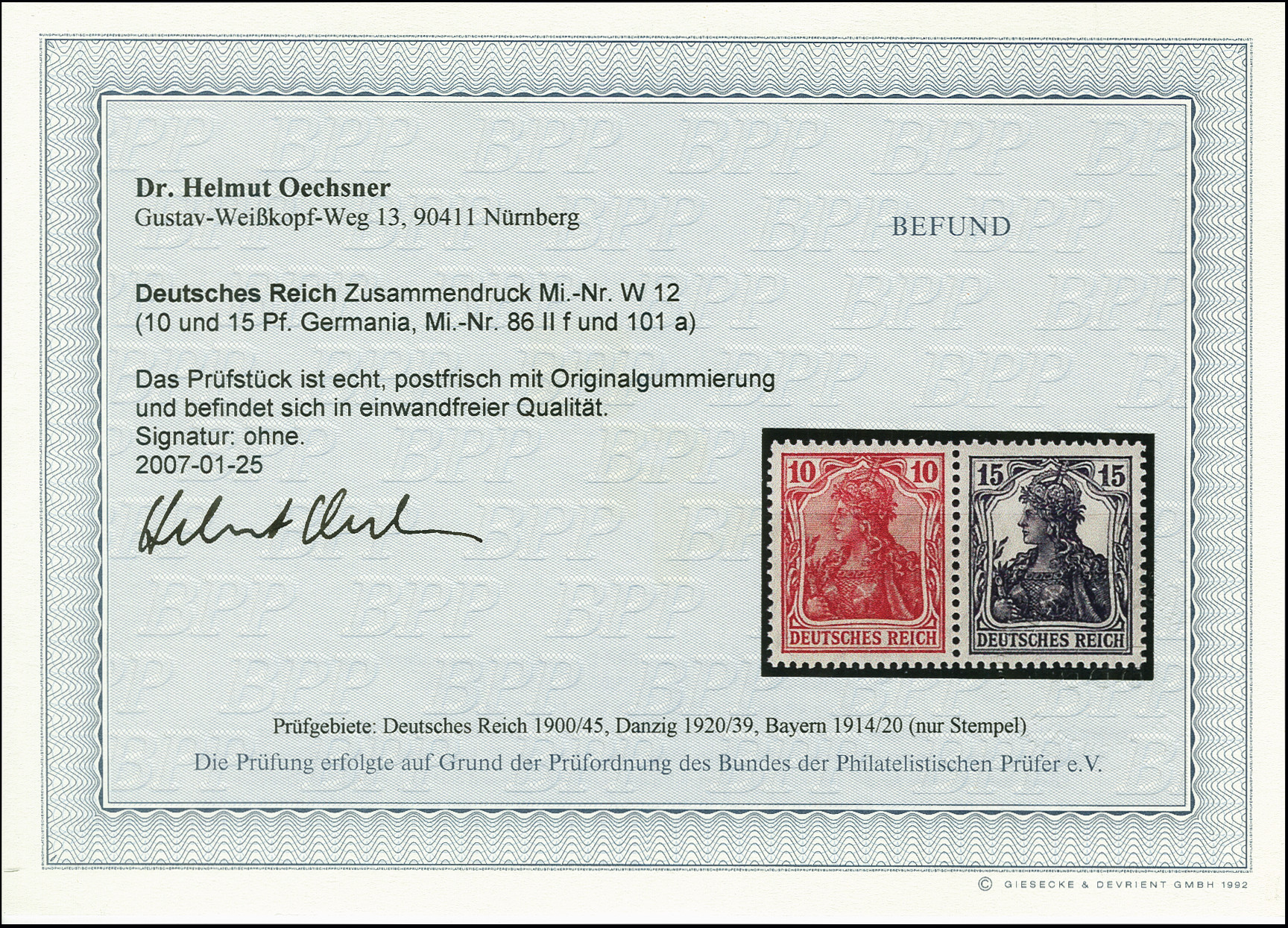 Lot 3206 - German Empire german empire - se-tenants -  Heinrich Koehler Auktionen Auction #368- Day 5