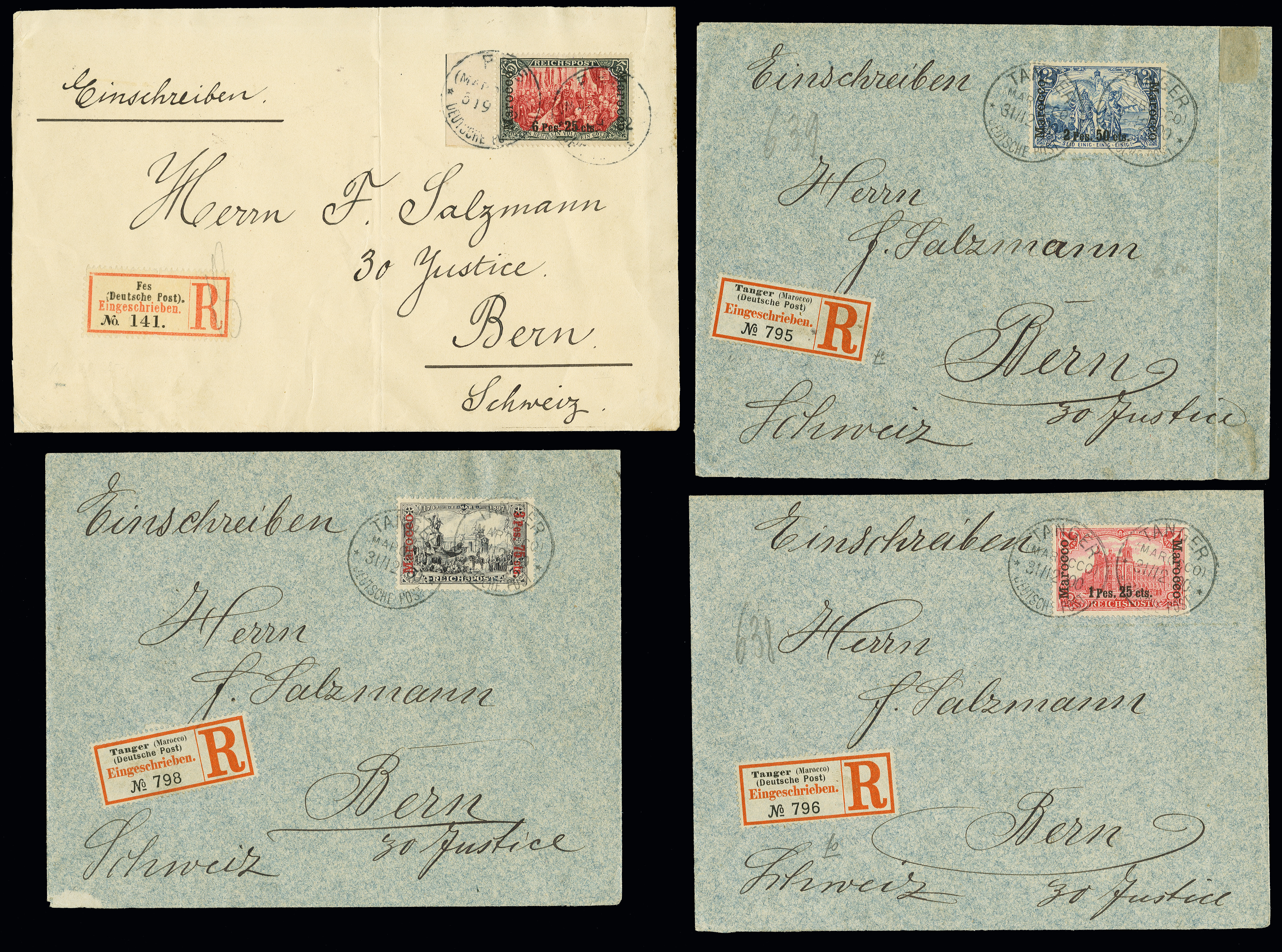 Lot 1547 - german colonies and offices abroad german post in marocco -  Heinrich Koehler Auktionen Auction #368- Day 4