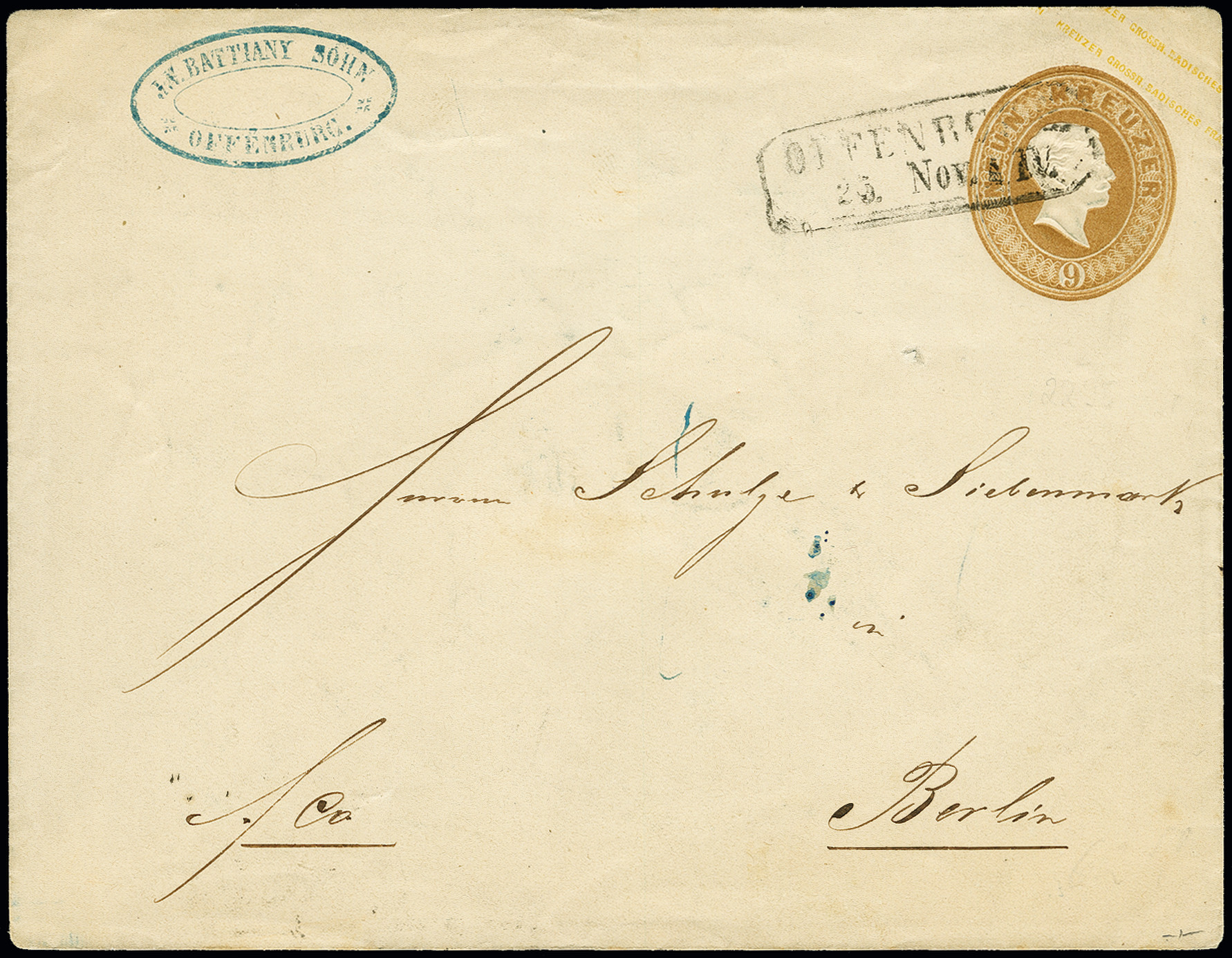 Lot 3253 - Baden baden postal stationary -  Heinrich Koehler Auktionen Auction #368- Day 5