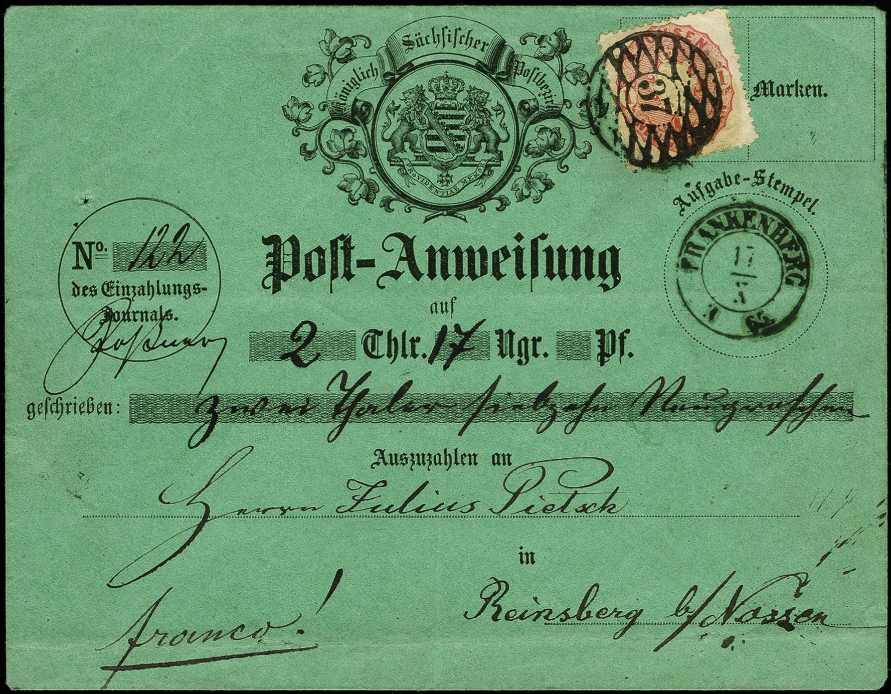 Lot 8102 - german states saxony -  Heinrich Koehler Auktionen Auction #368- Day 5