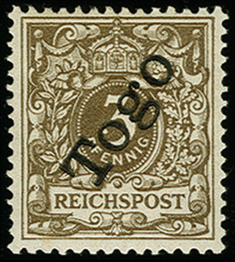 Lot 1685 - german colonies and offices abroad togo -  Heinrich Koehler Auktionen Auction #368- Day 4