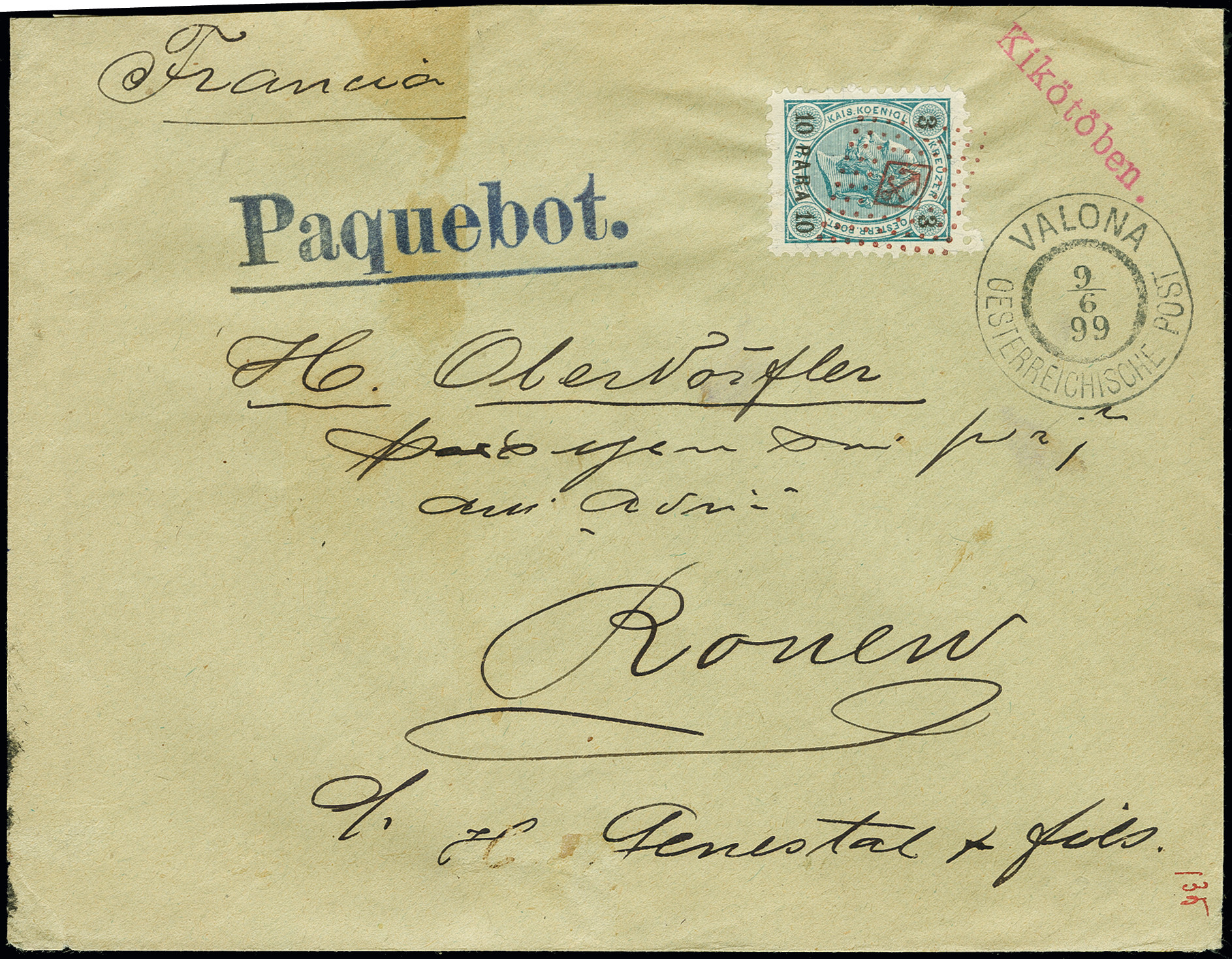Lot 1148 - Main catalogue foreign ship mail -  Heinrich Koehler Auktionen Auction #368- Day 2