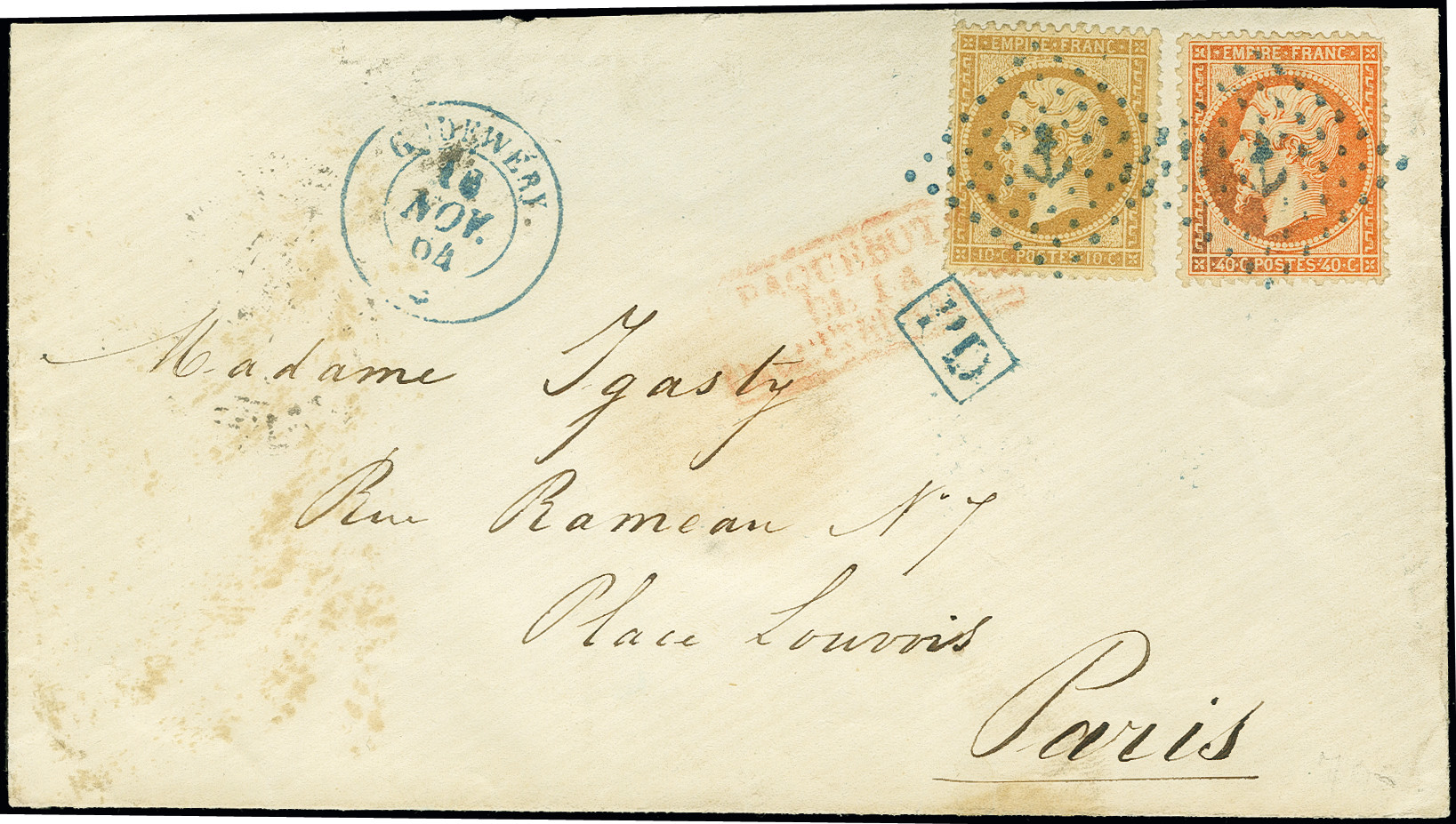 Lot 1145 - Main catalogue foreign ship mail -  Heinrich Koehler Auktionen Auction #368- Day 2