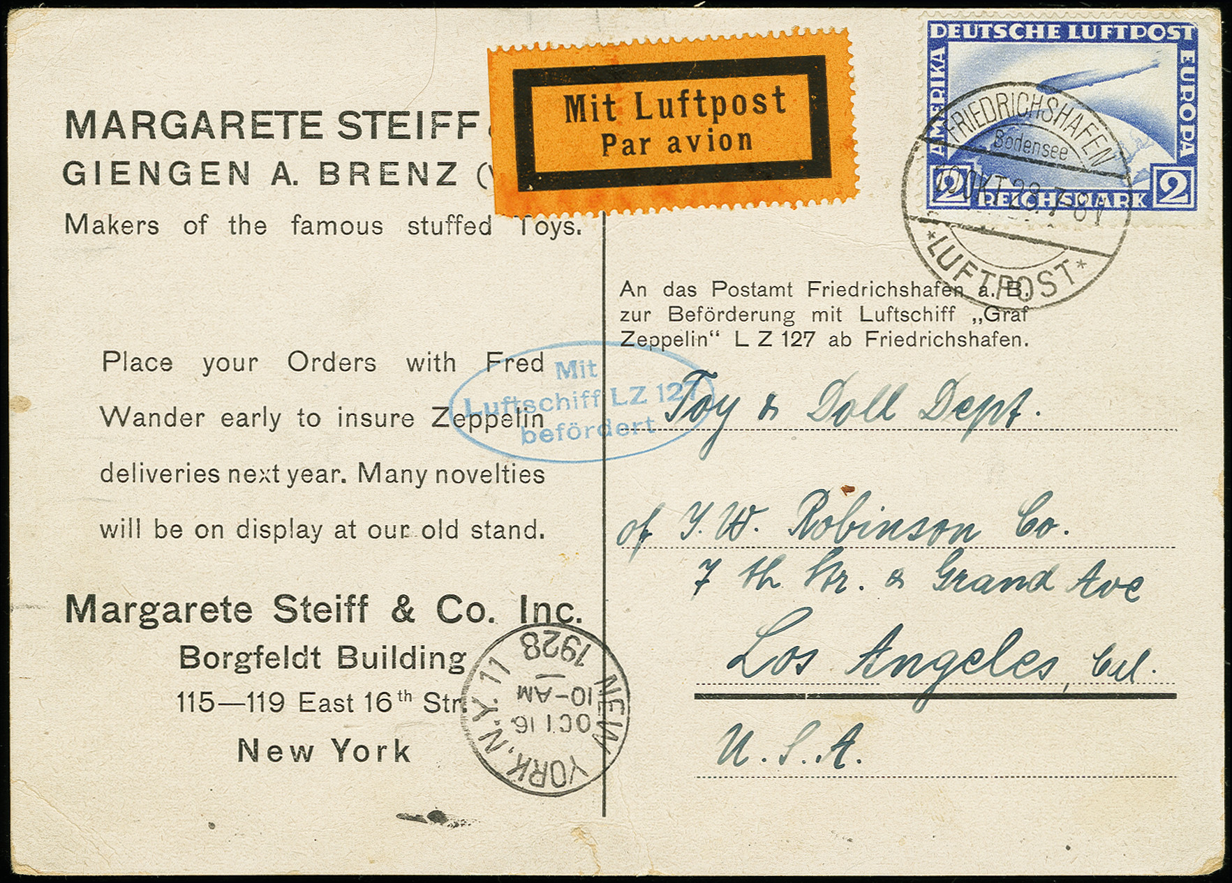 Lot 1160 - airmail zeppelin -  Heinrich Koehler Auktionen Auction #368- Day 2
