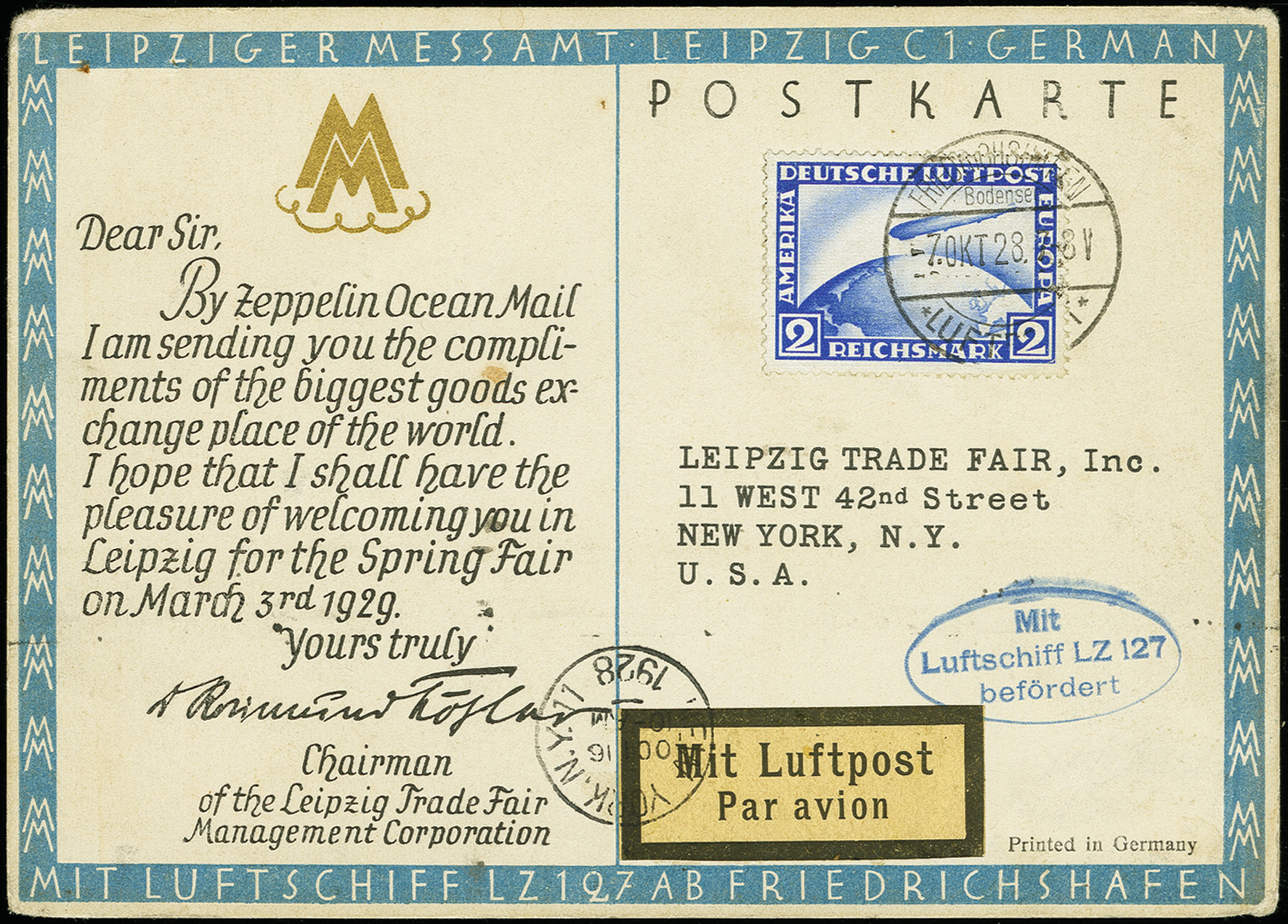 Lot 1159 - airmail zeppelin -  Heinrich Koehler Auktionen Auction #368- Day 2