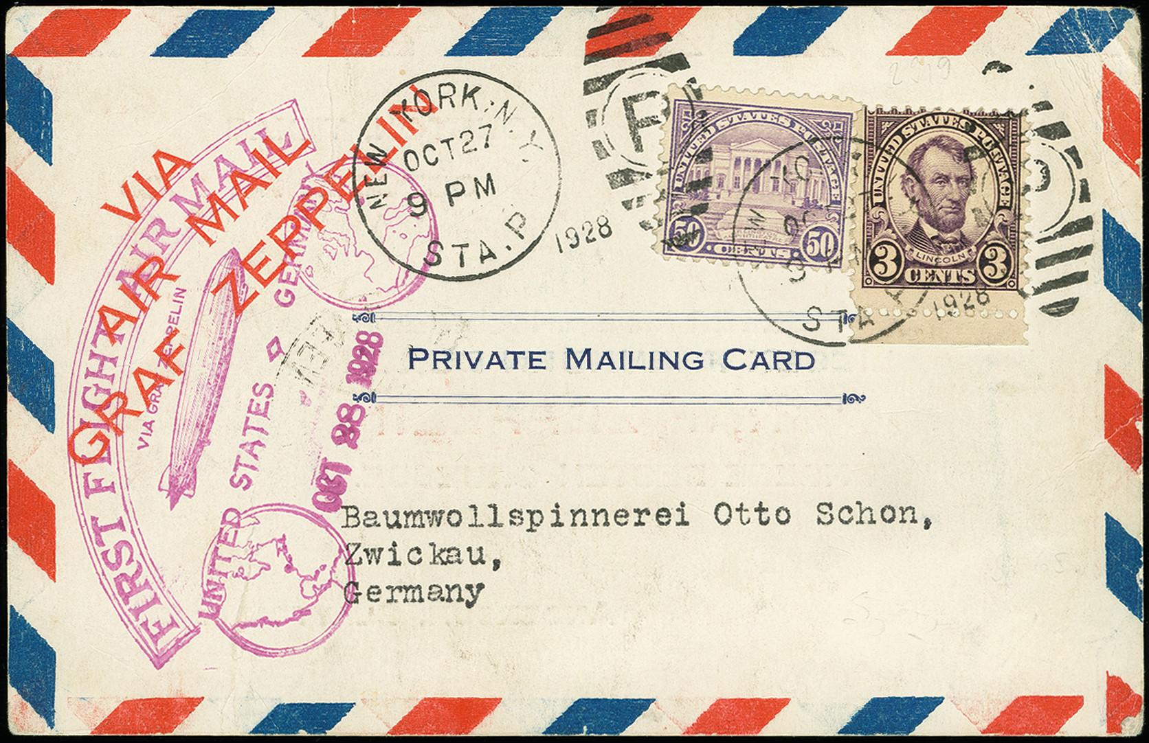 Lot 1161 - airmail zeppelin -  Heinrich Koehler Auktionen Auction #368- Day 2