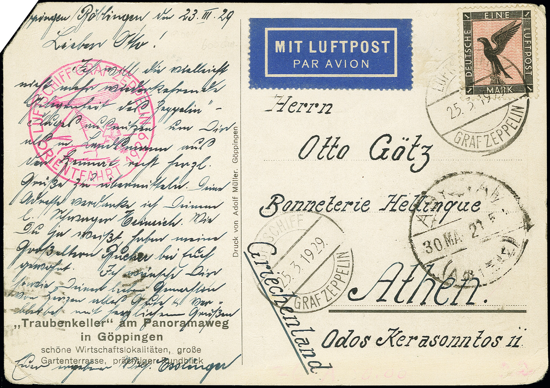 Lot 1163 - airmail zeppelin -  Heinrich Koehler Auktionen Auction #368- Day 2