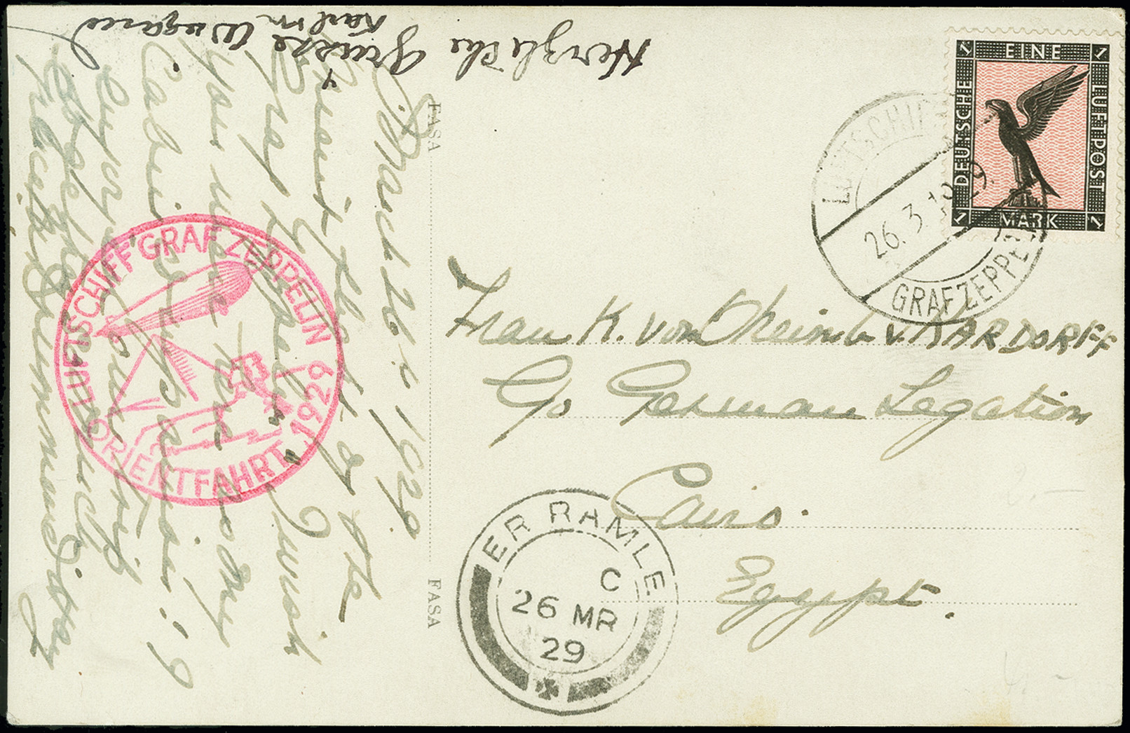 Lot 1165 - airmail zeppelin -  Heinrich Koehler Auktionen Auction #368- Day 2