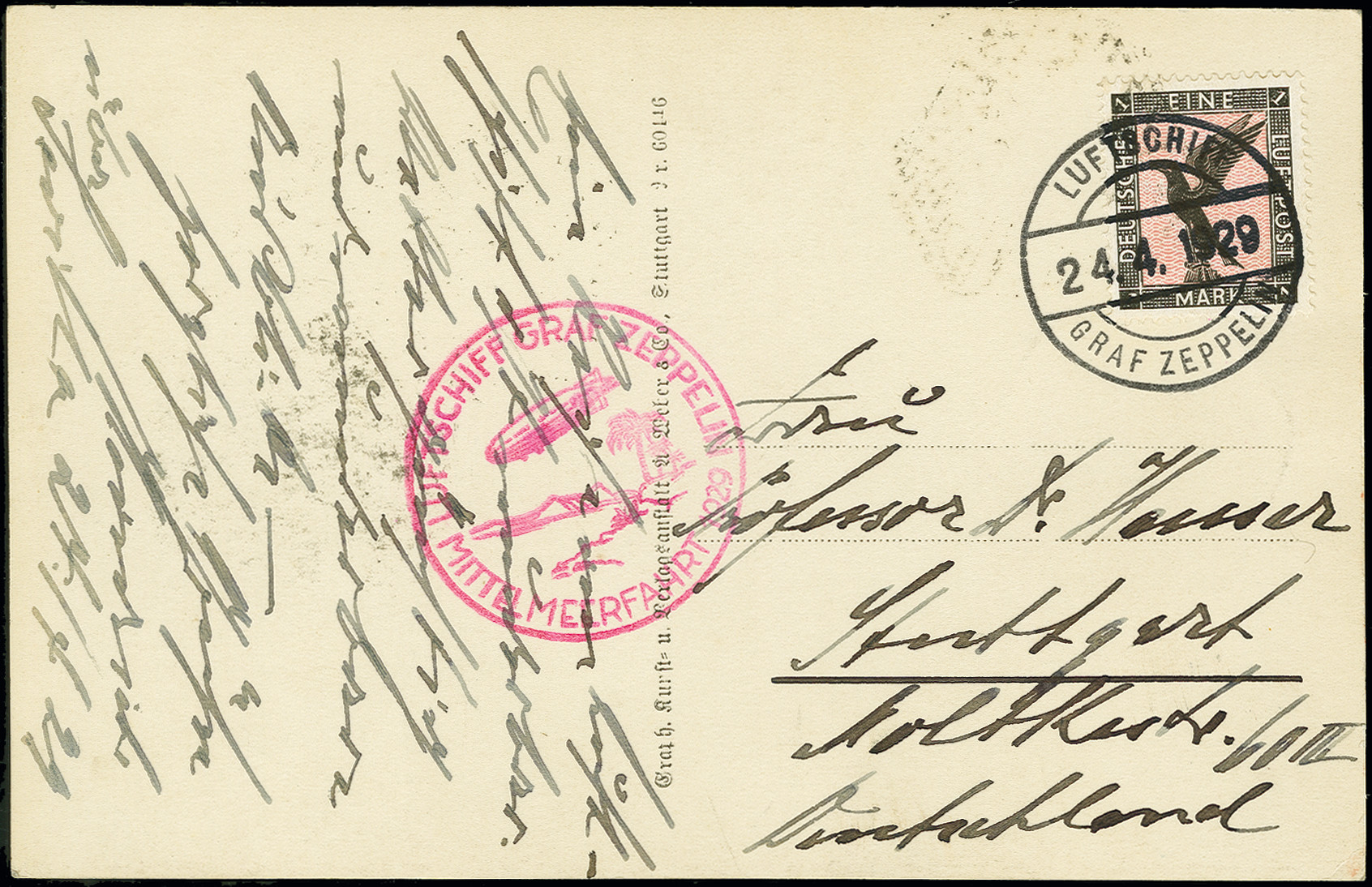 Lot 1167 - airmail zeppelin -  Heinrich Koehler Auktionen Auction #368- Day 2