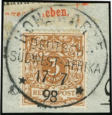 Lot 1603 - german south-west africa german south-west africa - forerunners -  Heinrich Koehler Auktionen Auction #368- Day 4