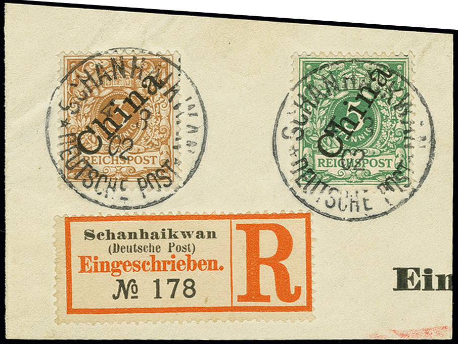 Lot 1533 - german colonies and offices abroad german post in china -  Heinrich Koehler Auktionen Auction #368- Day 4