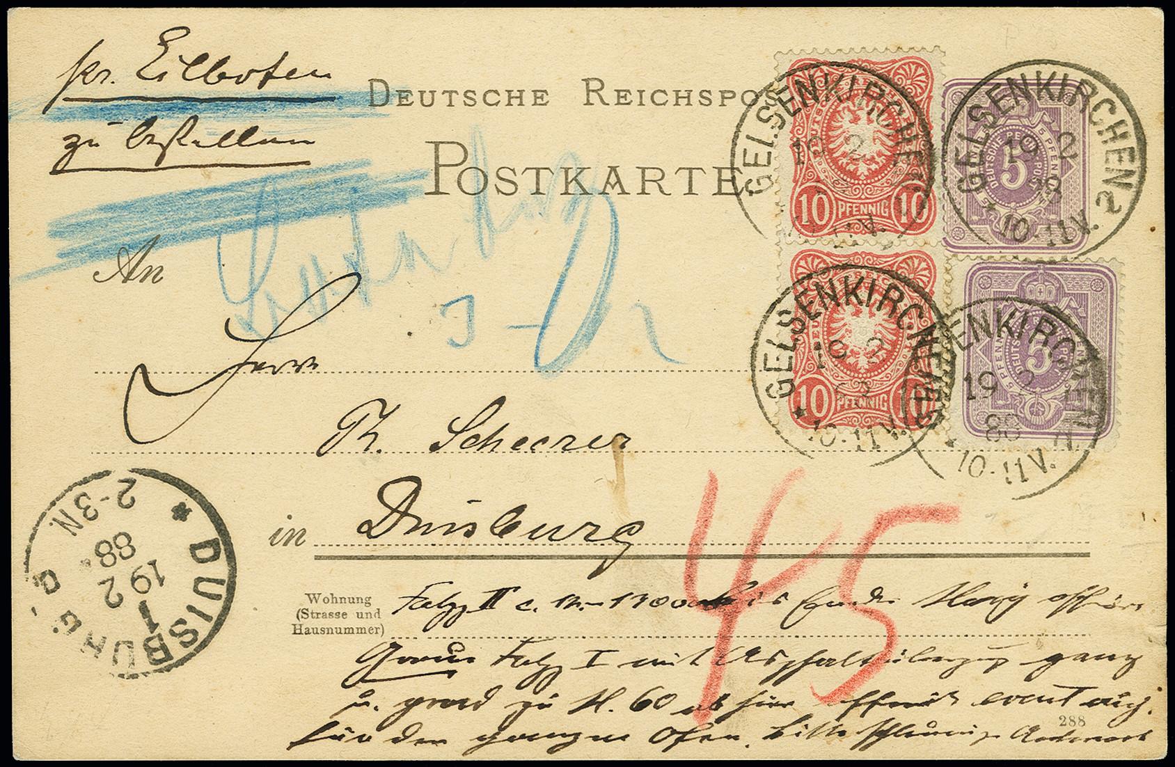 Lot 3004 - Main catalogue German Empire -  Heinrich Koehler Auktionen Auction #368- Day 5