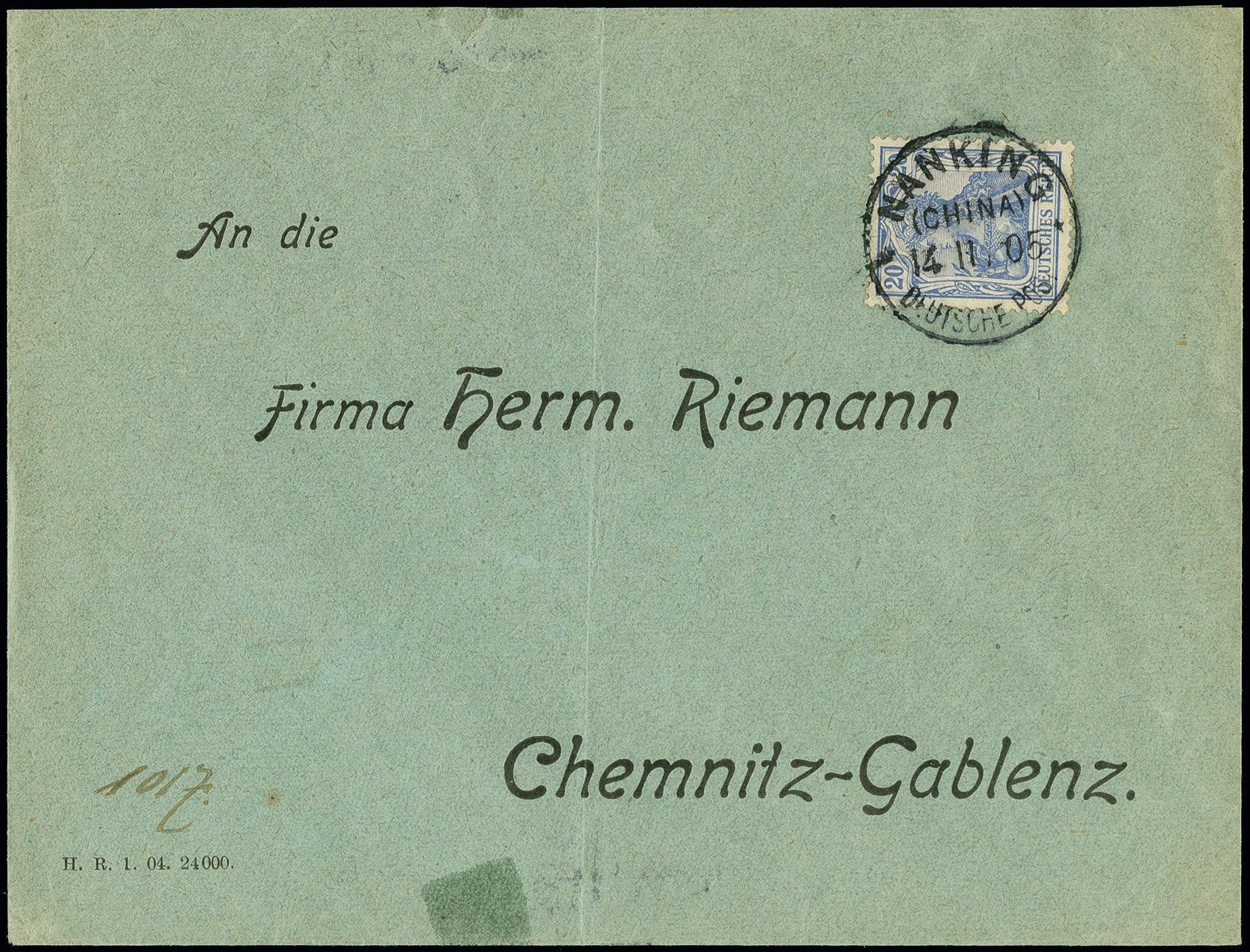 Lot 1544 - german post in china german post in china - cancellations -  Heinrich Koehler Auktionen Auction #368- Day 4