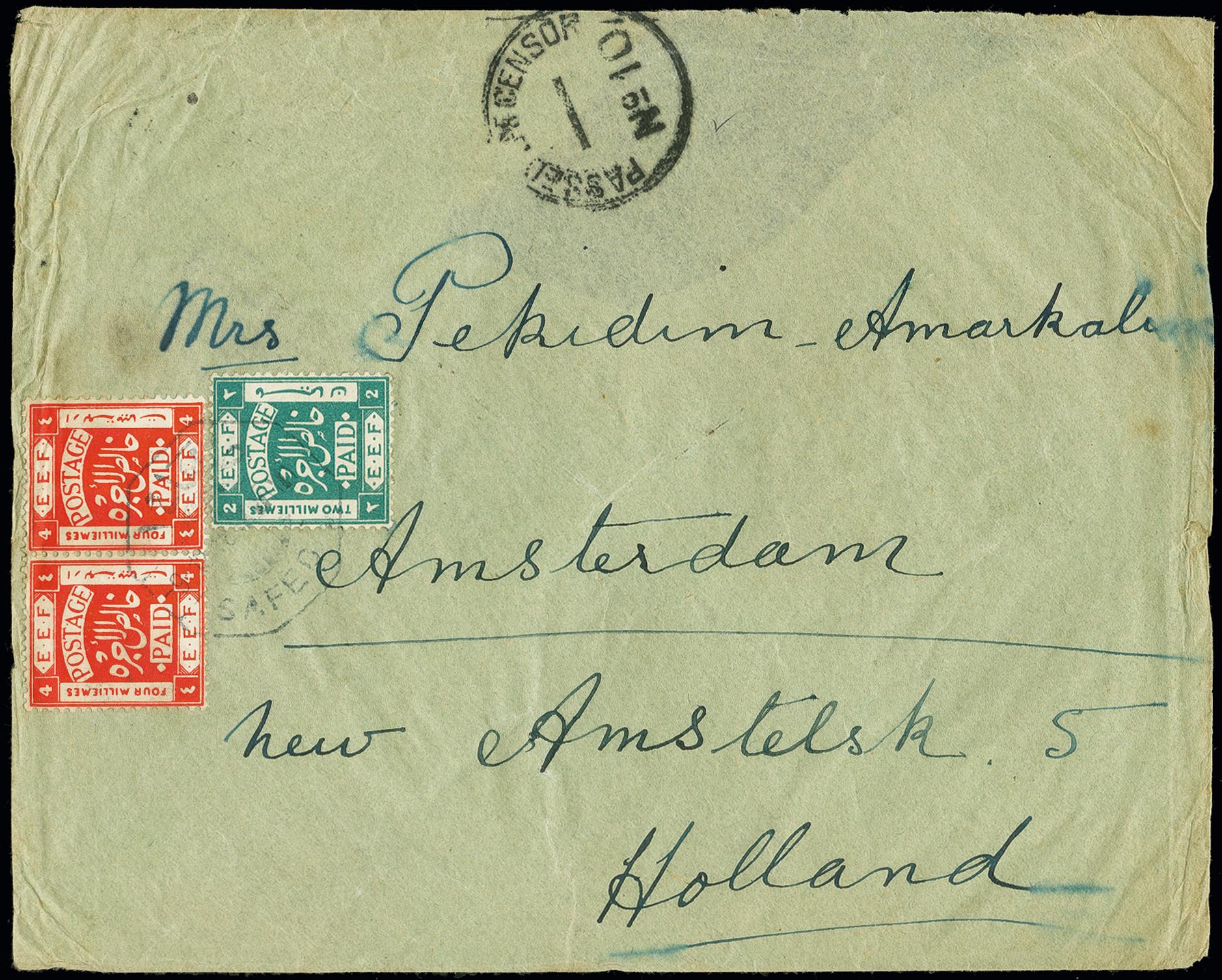 Lot 1056 - Overseas palestine -  Heinrich Koehler Auktionen Auction #368- Day 1