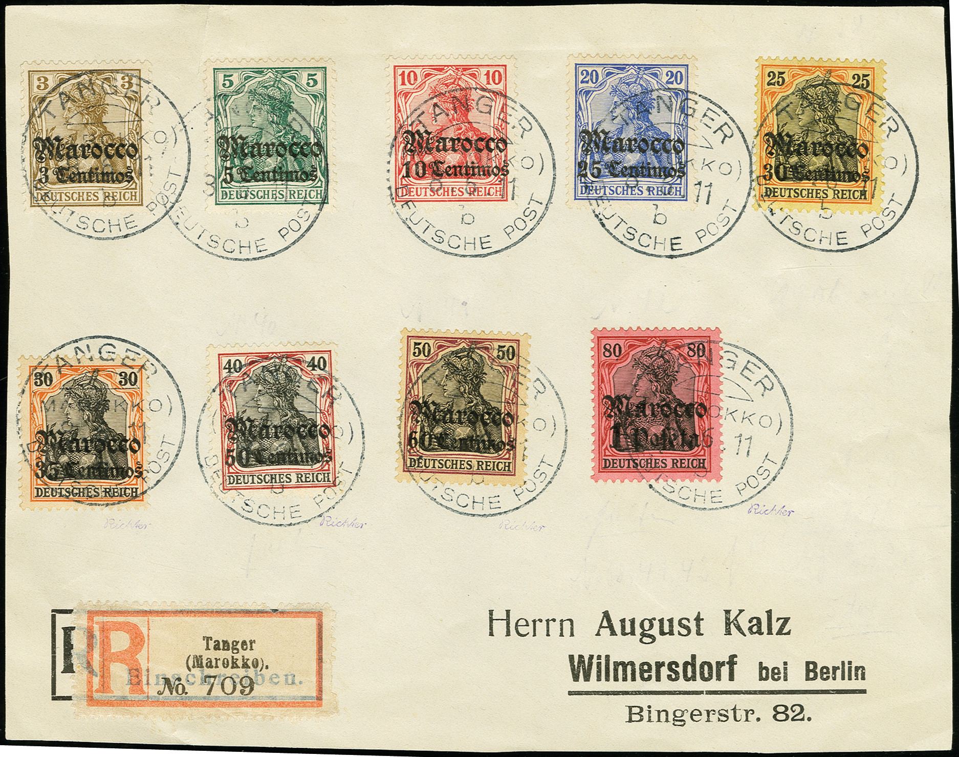 Lot 1550 - german colonies and offices abroad german post in marocco -  Heinrich Koehler Auktionen Auction #368- Day 4