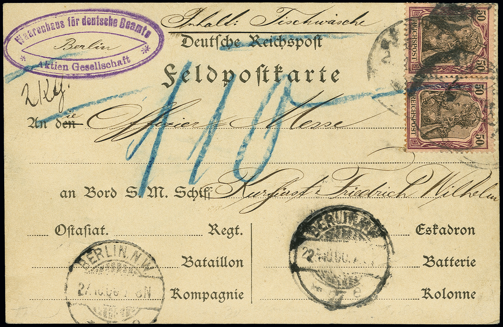 Lot 1537 - german colonies and offices abroad german post in china -  Heinrich Koehler Auktionen Auction #368- Day 4
