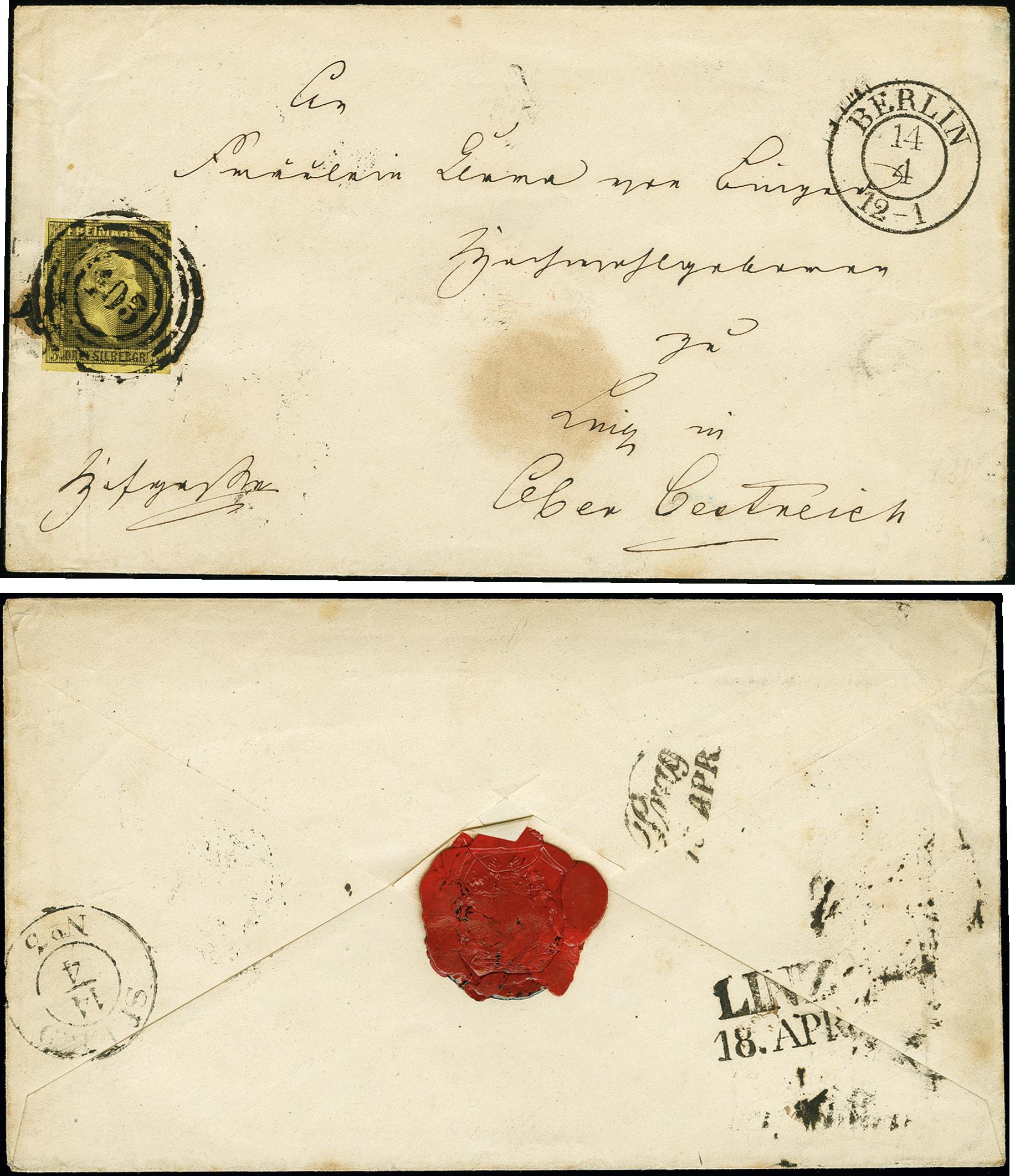 Lot 3450 - prussia prussia - cancellations -  Heinrich Koehler Auktionen Auction #368- Day 5