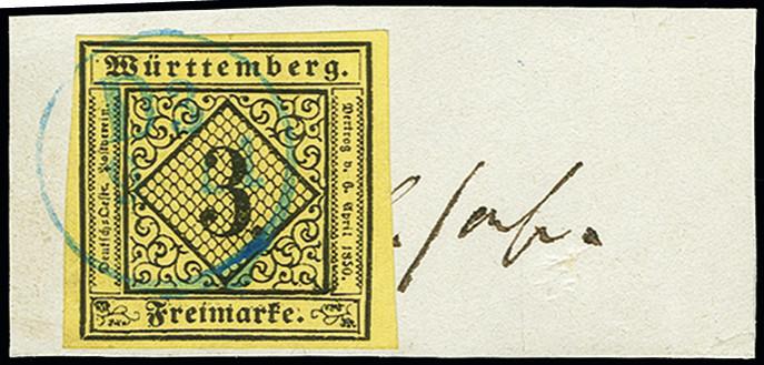 Lot 3551 - Wurttemberg württemberg - cancellations -  Heinrich Koehler Auktionen Auction #368- Day 5