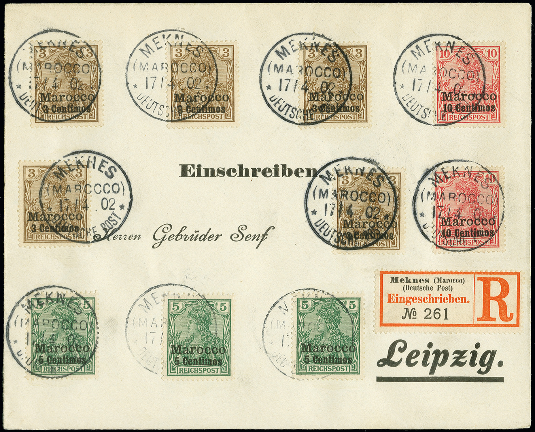 Lot 1546 - german colonies and offices abroad german post in marocco -  Heinrich Koehler Auktionen Auction #368- Day 4