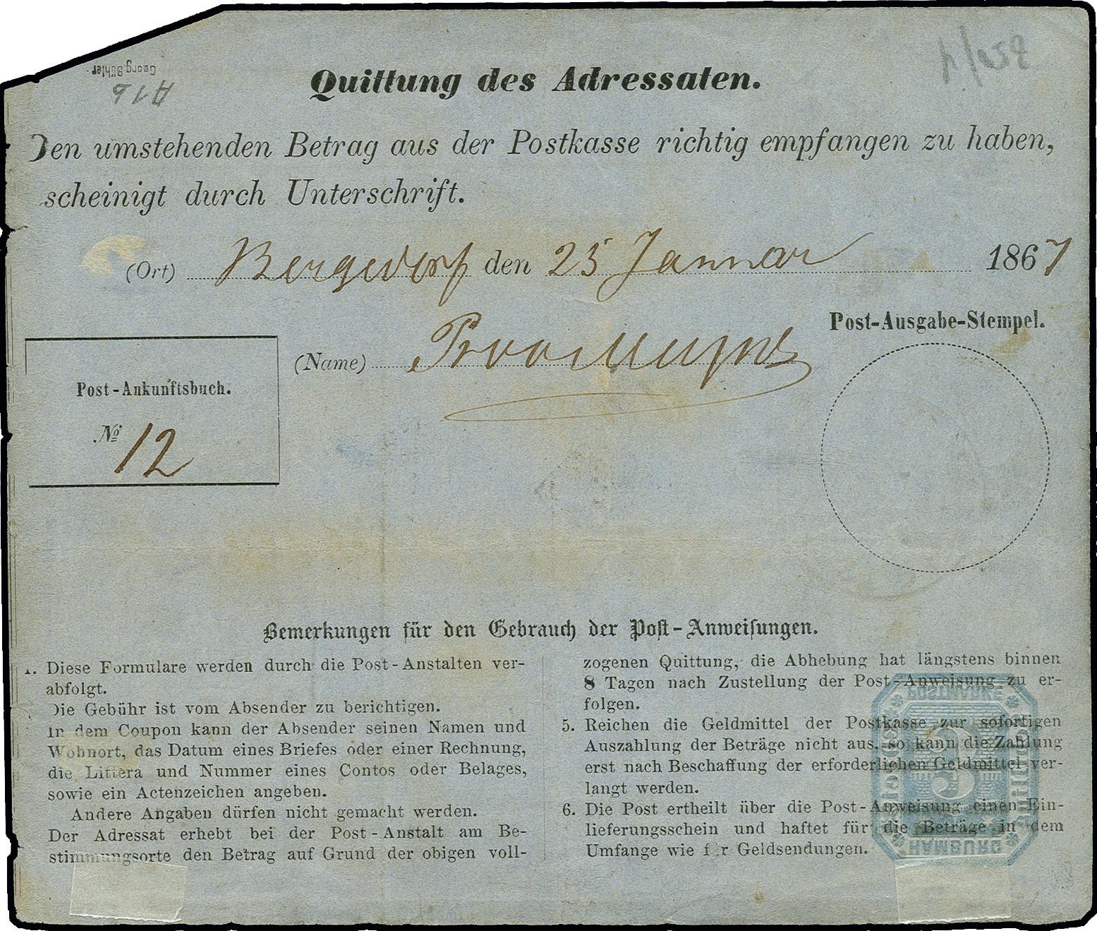 Lot 3413 - hamburg Hamburg postal stationary -  Heinrich Koehler Auktionen Auction #368- Day 5