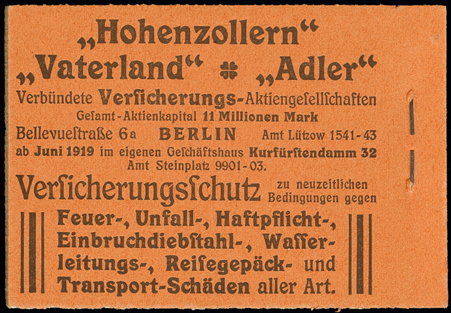 Lot 3190 - German Empire german empire - se-tenants -  Heinrich Koehler Auktionen Auction #368- Day 5