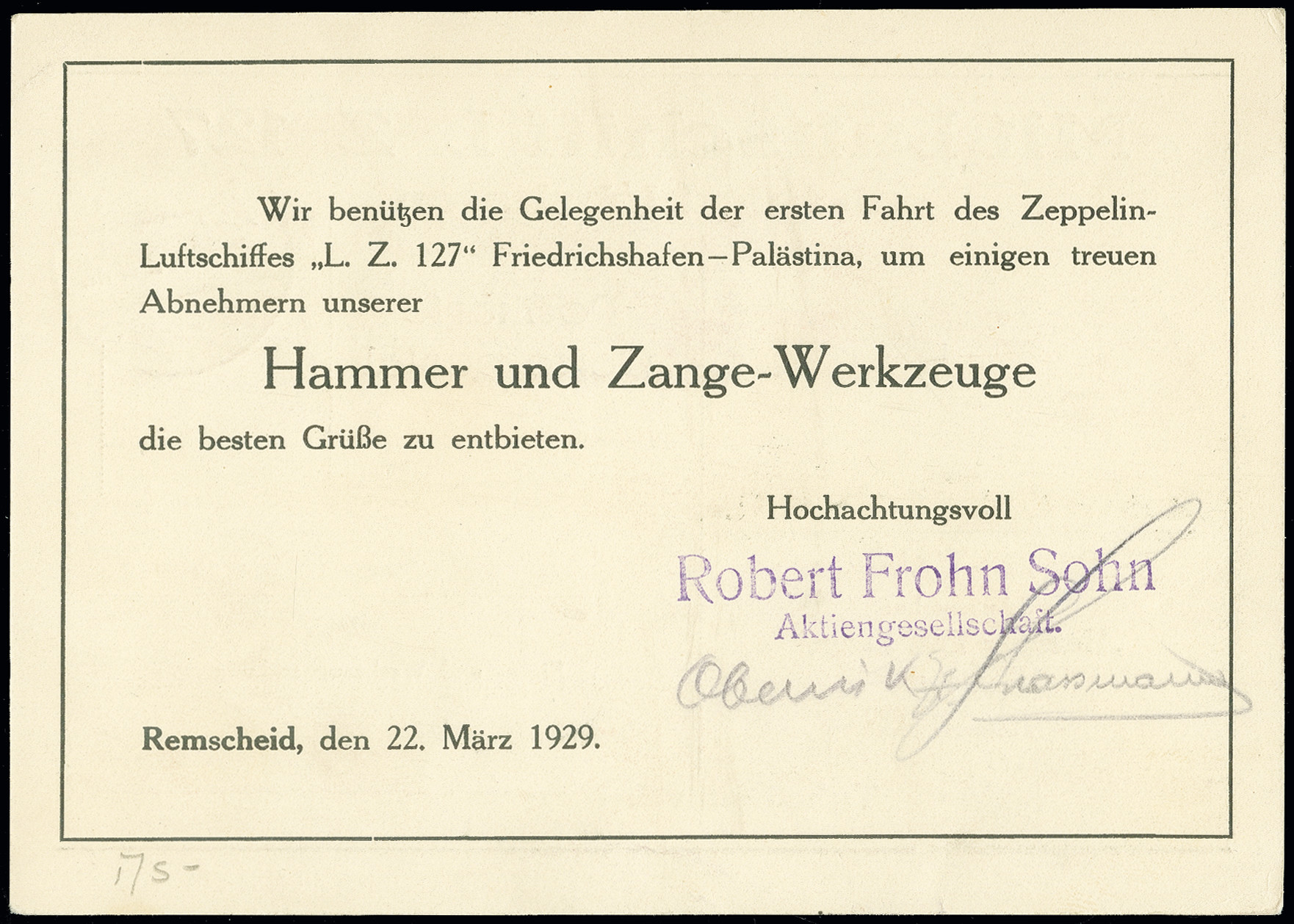 Lot 1164 - airmail zeppelin -  Heinrich Koehler Auktionen Auction #368- Day 2