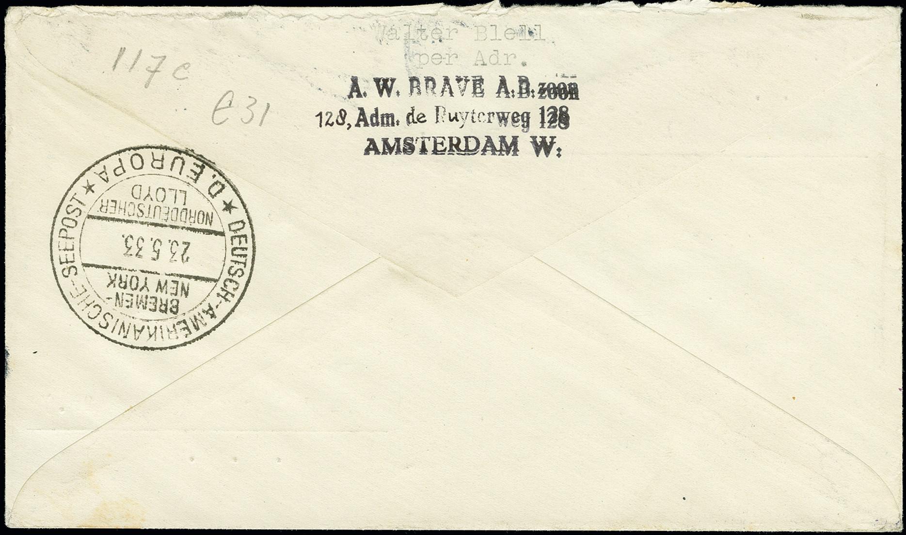 Lot 1153 - airmail catapult post -  Heinrich Koehler Auktionen Auction #368- Day 2