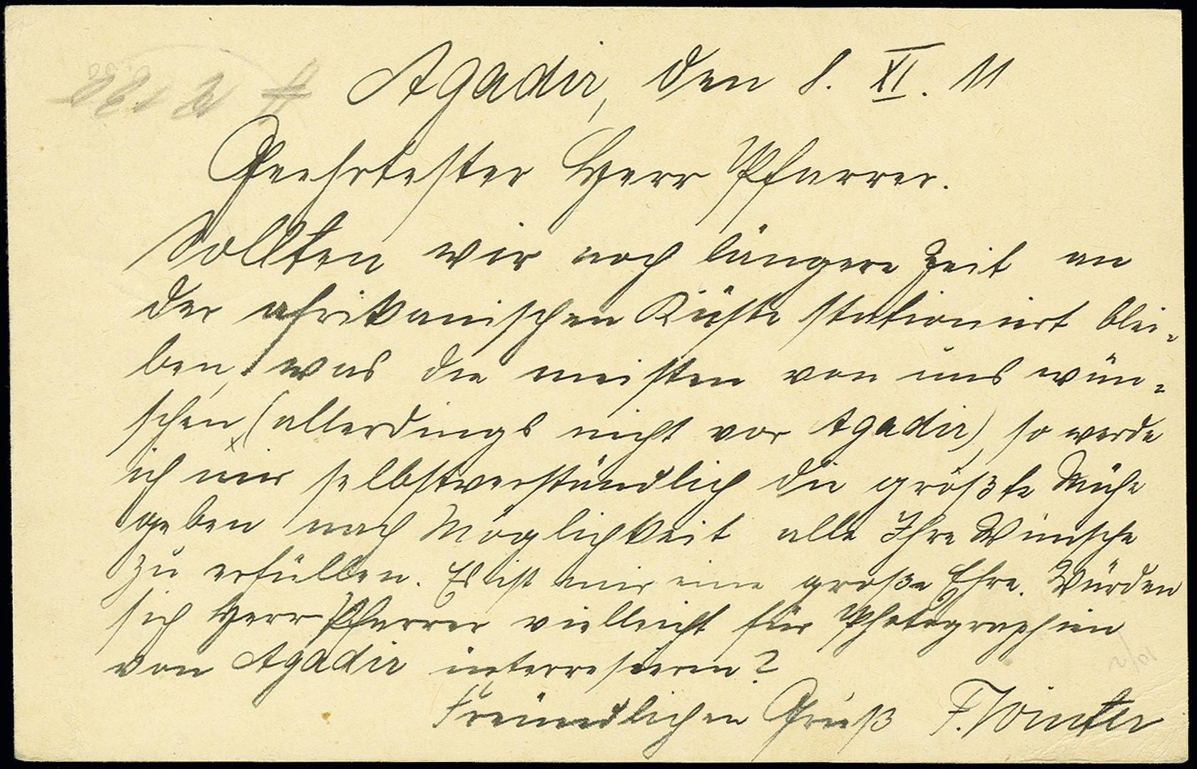 Lot 1554 - german post in marocco German Post in Marocco - cancellations -  Heinrich Koehler Auktionen Auction #368- Day 4