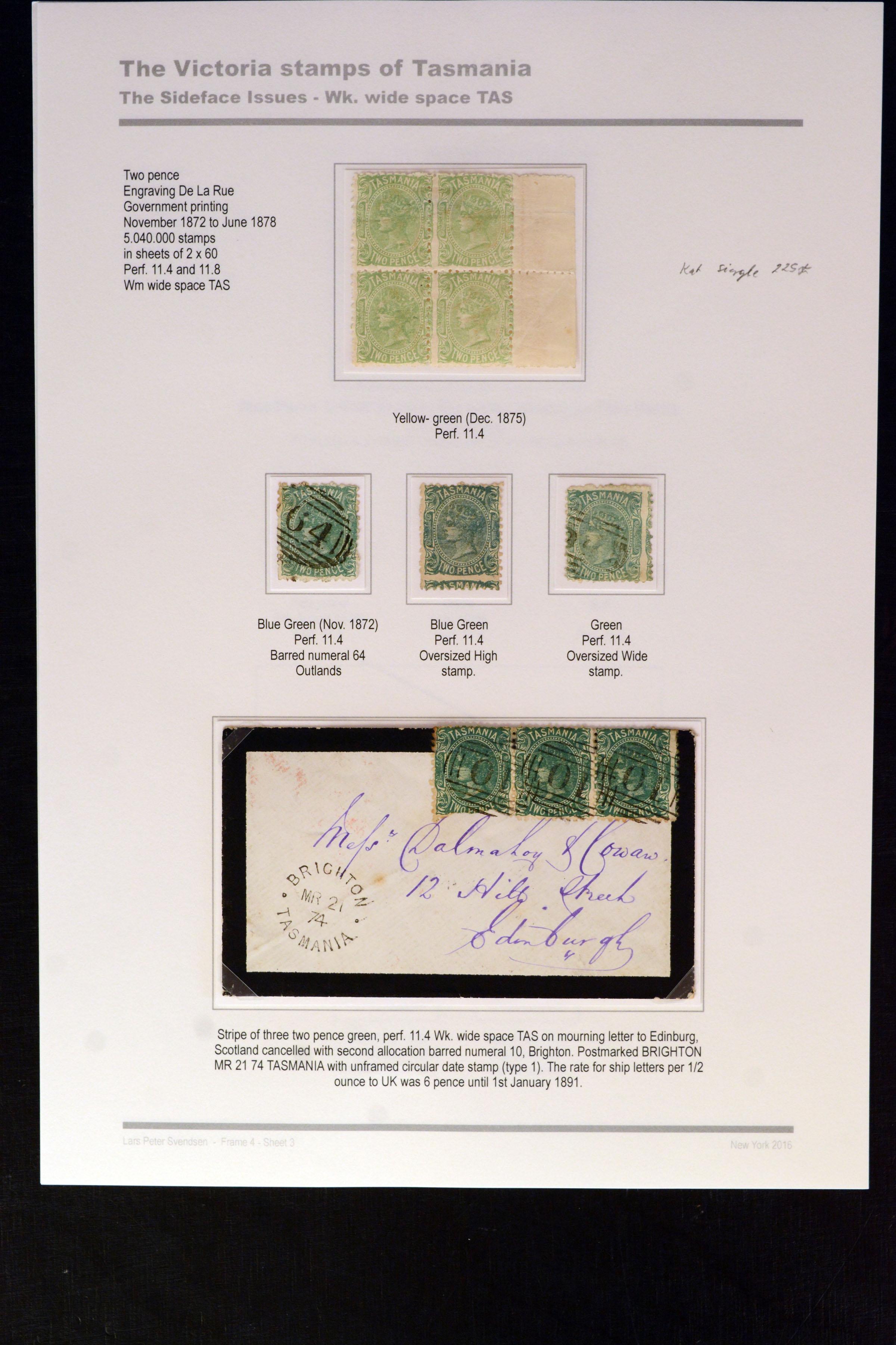 Lot 4158 - Australia tasmania -  Heinrich Koehler Auktionen Auction #368- Day 3