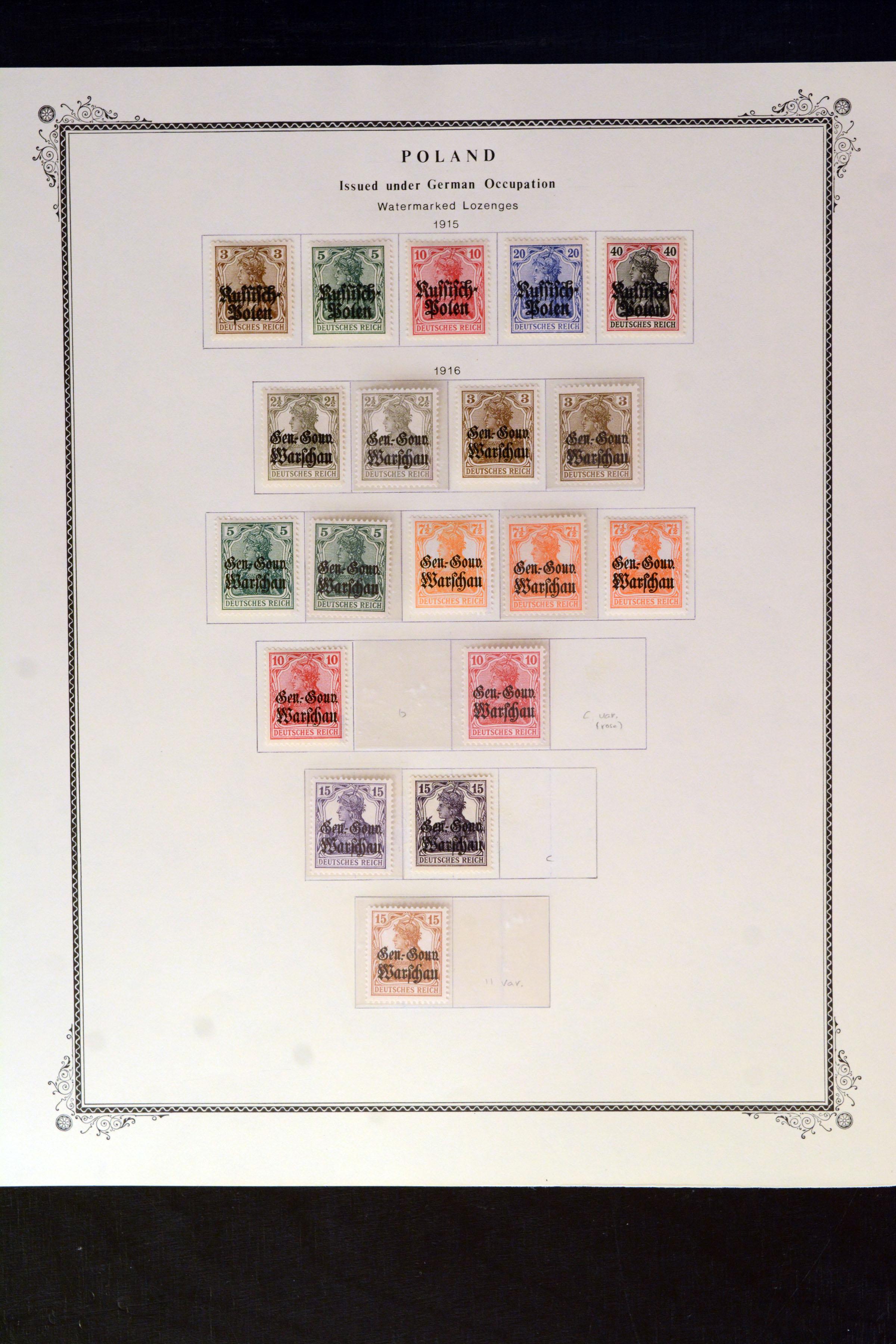 Lot 4845 - Occupation World War I. german post in poland -  Heinrich Koehler Auktionen Auction #368- Day 3