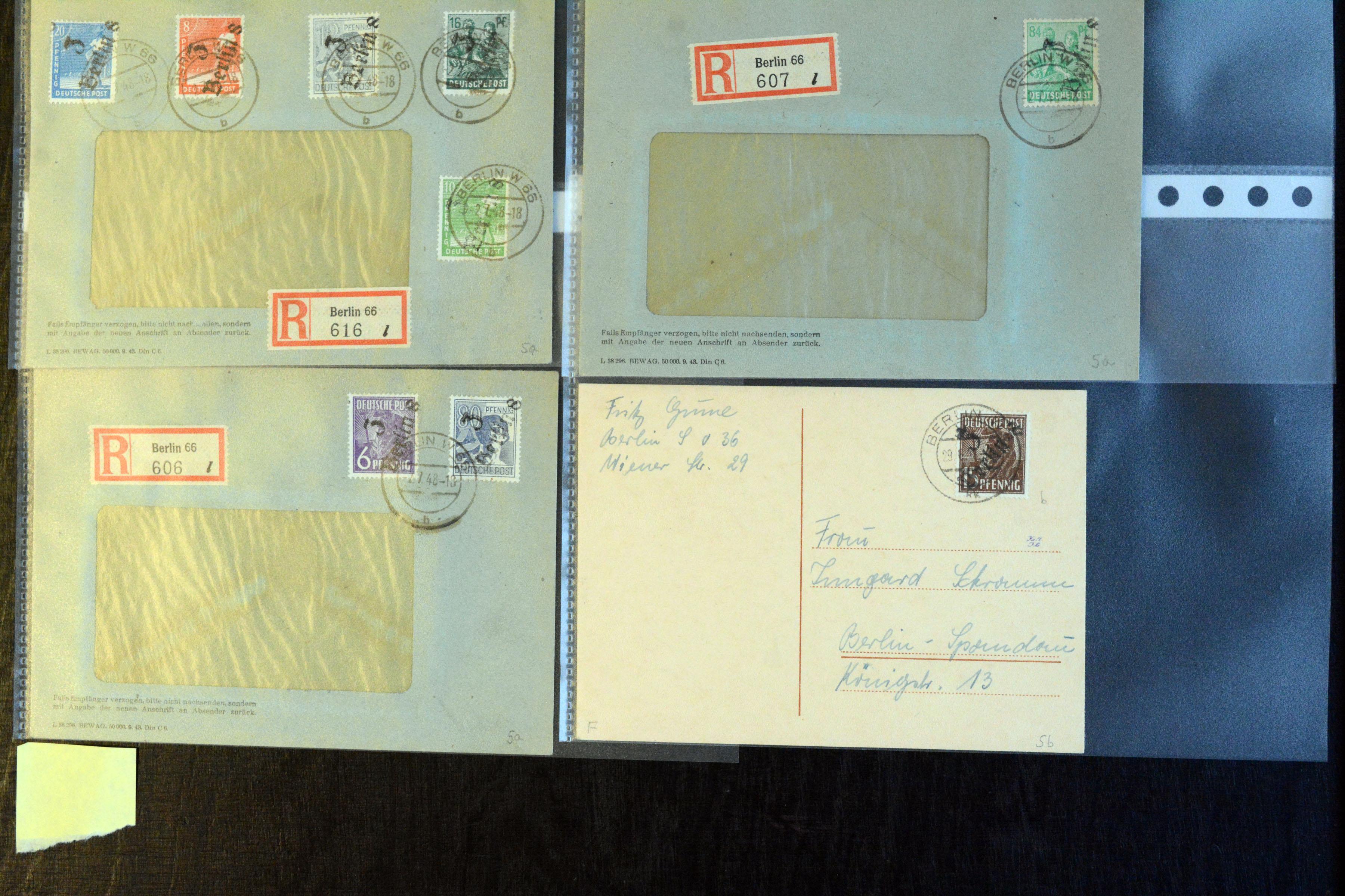 Lot 5152 - sbz (soviet occupation zone) SBZ - Handstamp overprints -  Heinrich Koehler Auktionen Auction #368- Day 3