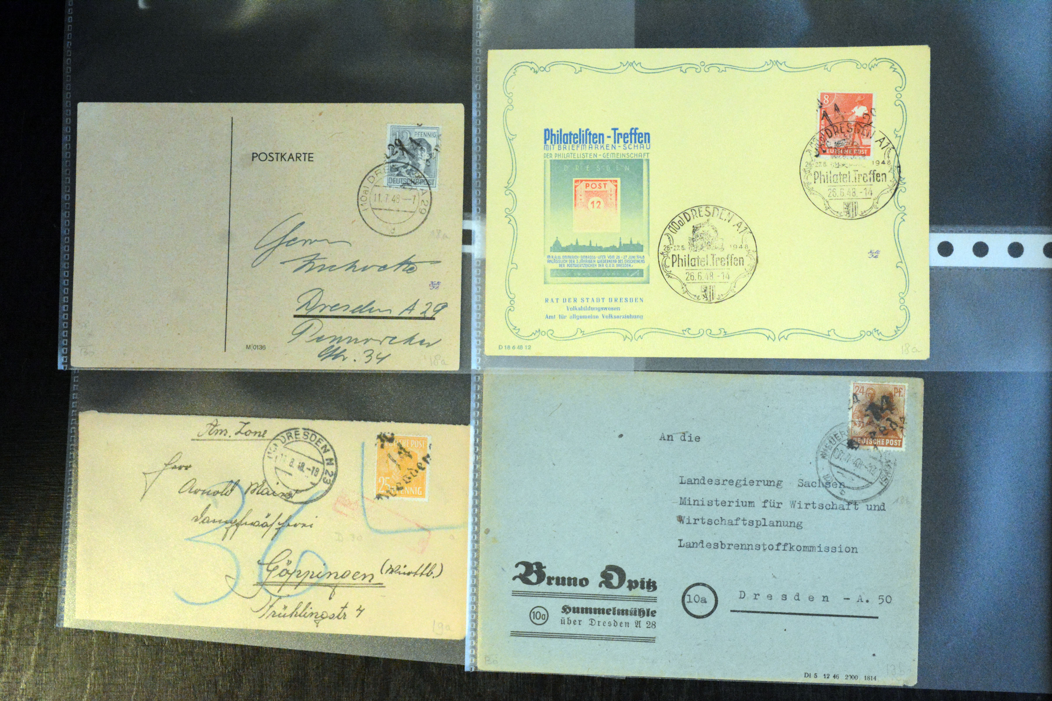 Lot 5154 - sbz (soviet occupation zone) SBZ - Handstamp overprints -  Heinrich Koehler Auktionen Auction #368- Day 3