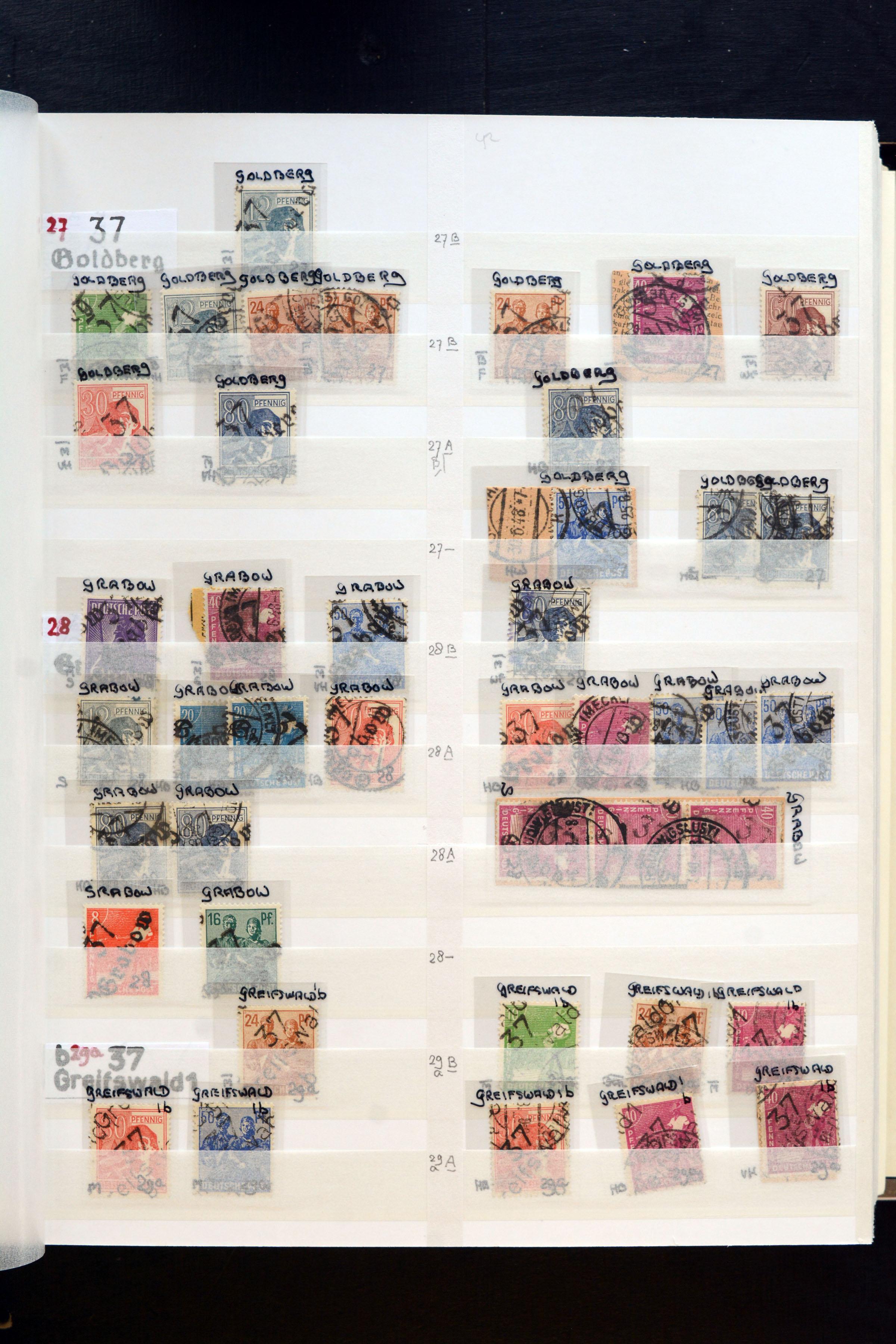 Lot 5165 - sbz (soviet occupation zone) SBZ - Handstamp overprints -  Heinrich Koehler Auktionen Auction #368- Day 3