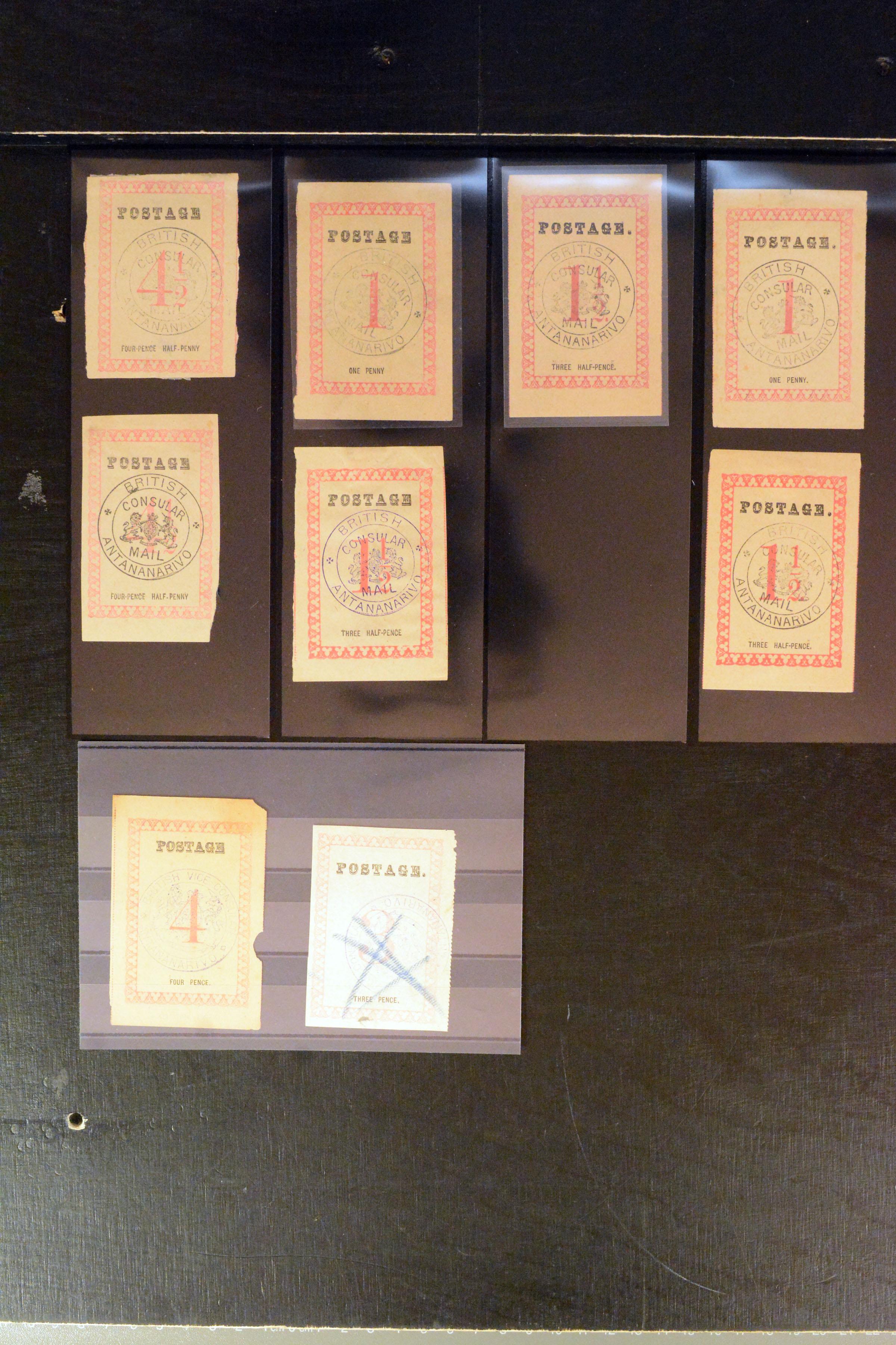 Lot 4177 - British Commonwealth Madagascar ( British Consular Mail ) -  Heinrich Koehler Auktionen Auction #368- Day 3