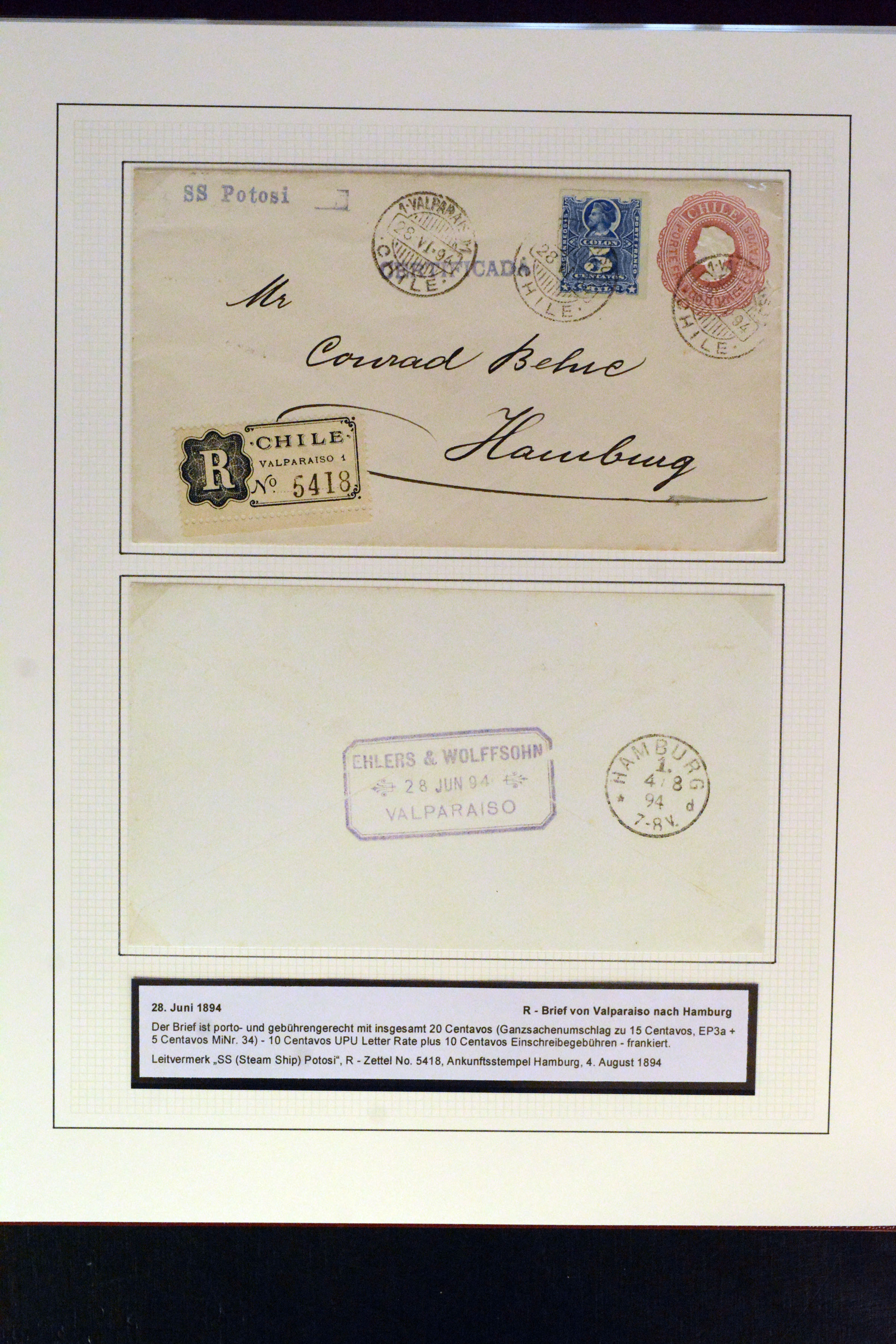 Briefe & Kartenposten Briefmarken Brief Von Chile