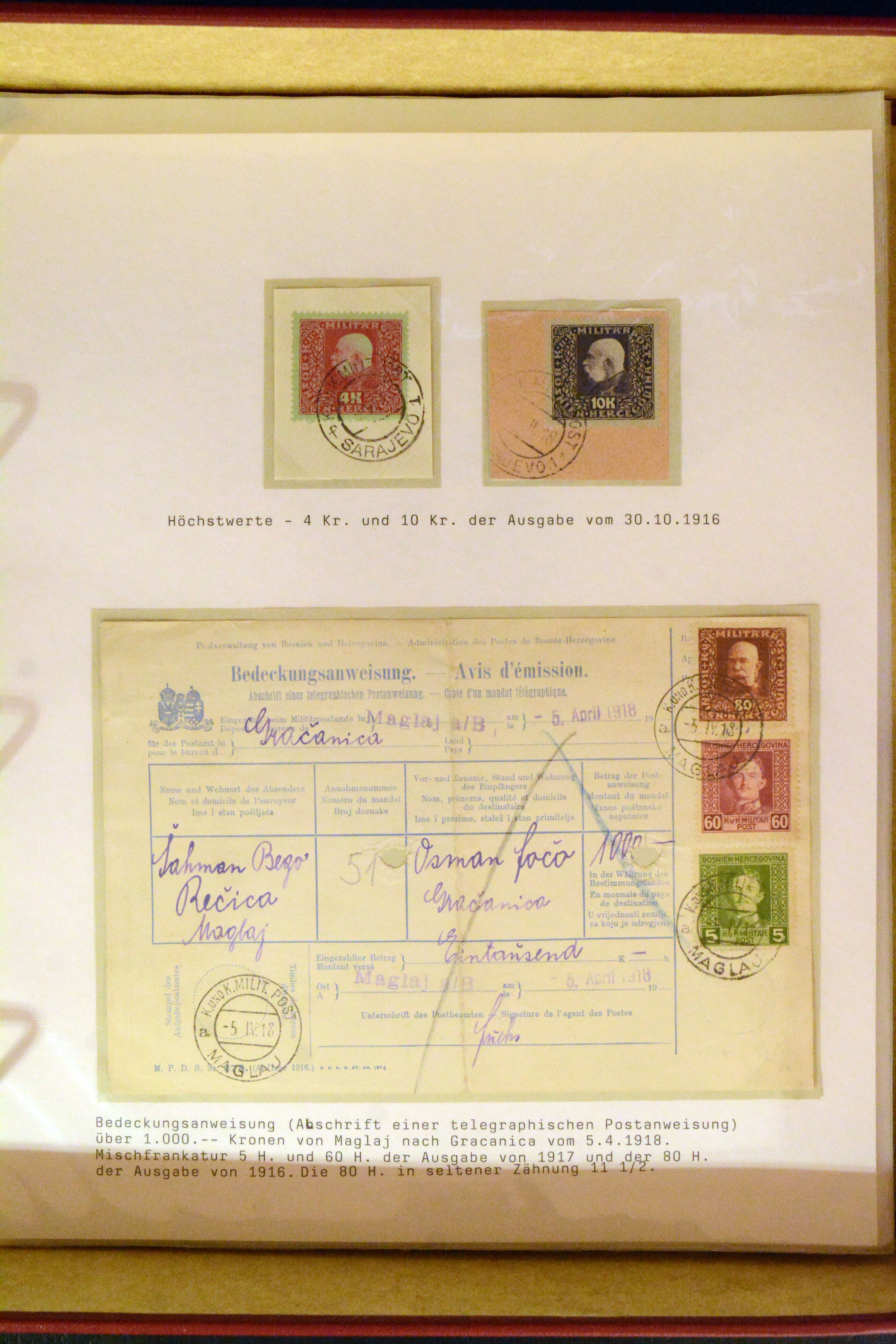 Lot 4058 - europe bosnia and herzegovina -  Heinrich Koehler Auktionen Auction #368- Day 3