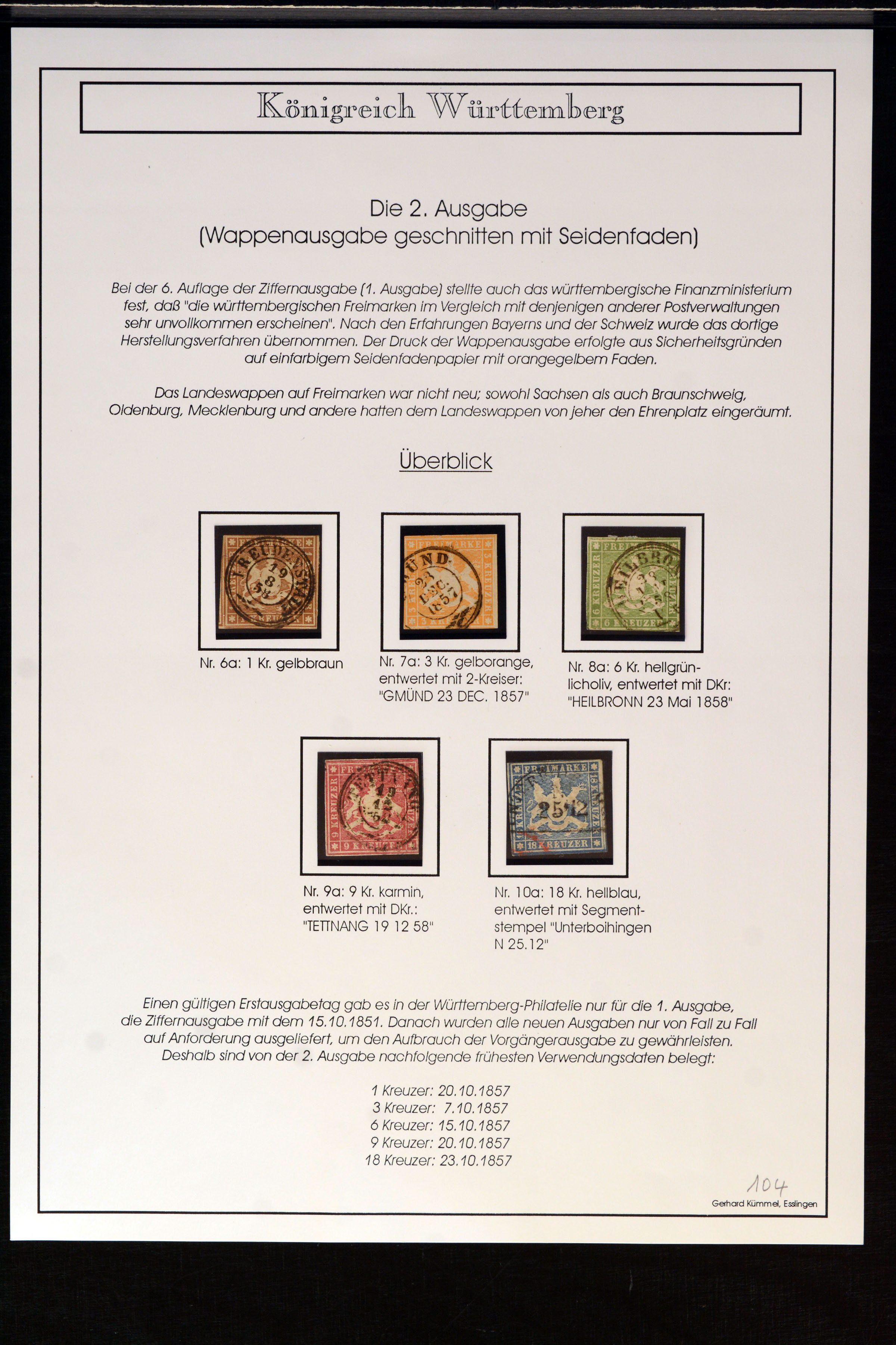 Stamp Auction German States Wurttemberg Auction 368 Day 3 Lot