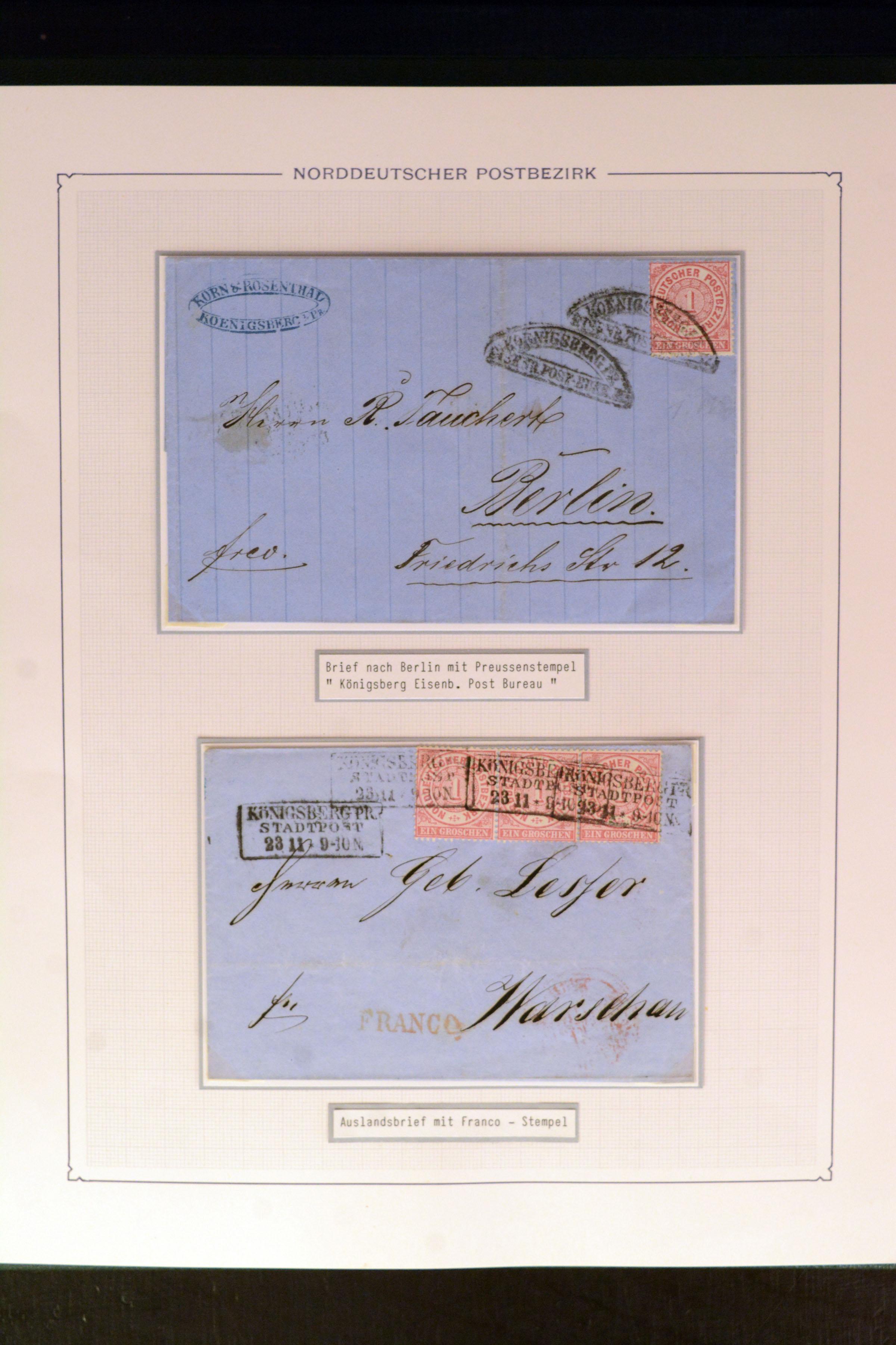 Lot 4707 - german states norddeutscher postbezirk -  Heinrich Koehler Auktionen Auction #368- Day 3