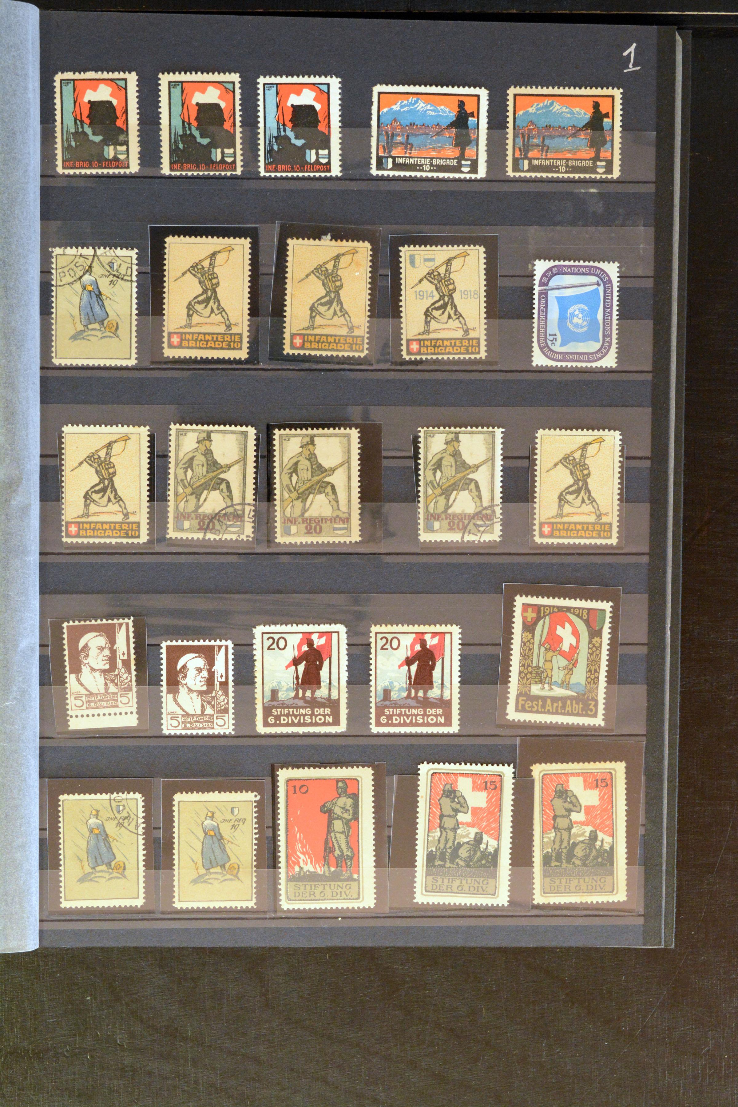 Lot 4367 - Switzerland Swiss - soldier stamps -  Heinrich Koehler Auktionen Auction #368- Day 3