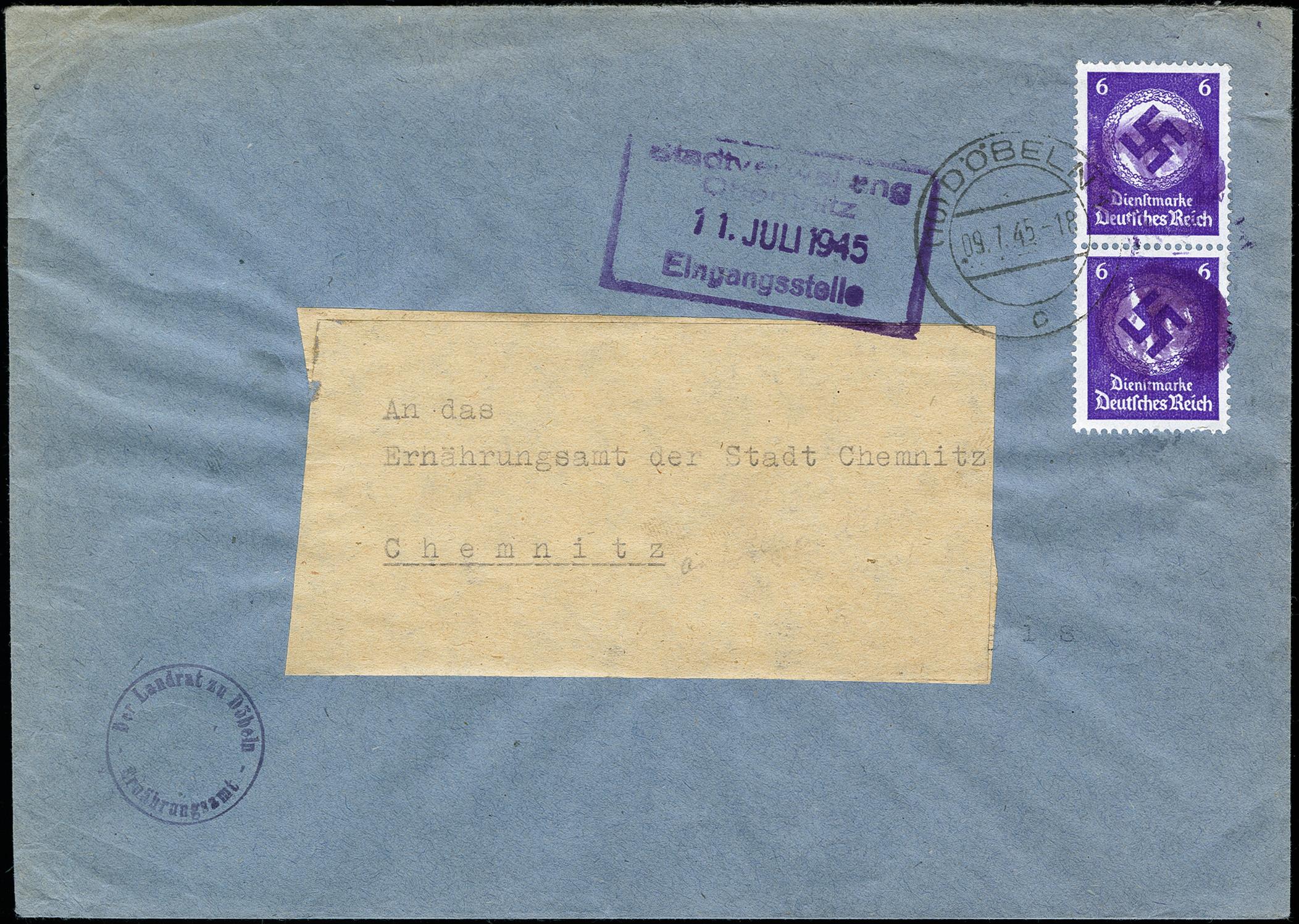 Lot 832 - sbz (soviet occupation zone) saxony - obliterated stamps -  Heinrich Koehler Auktionen Auction #371- Day 2